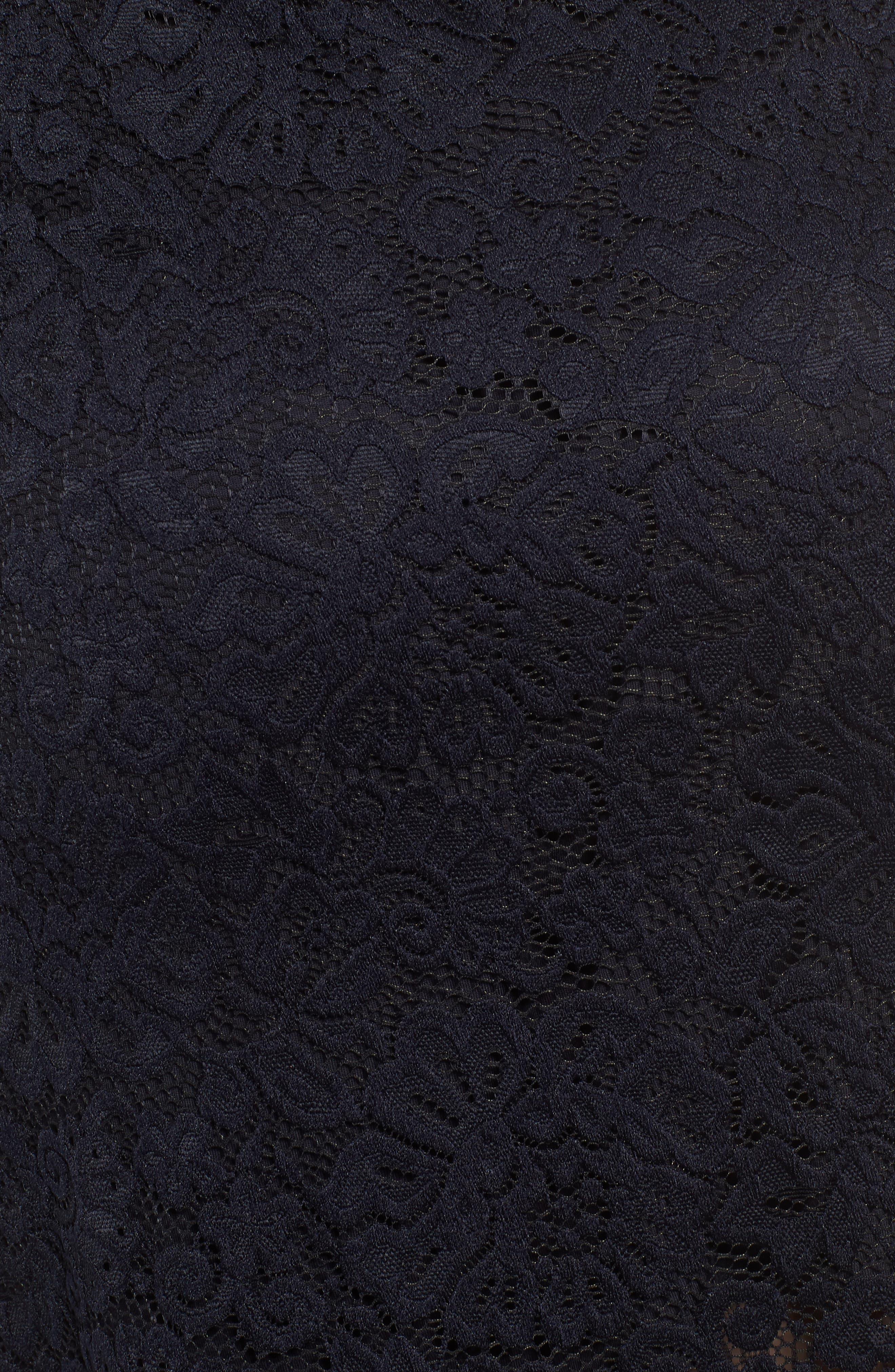 ROSEMUNDE, Lace Pencil Skirt, Alternate thumbnail 5, color, 001