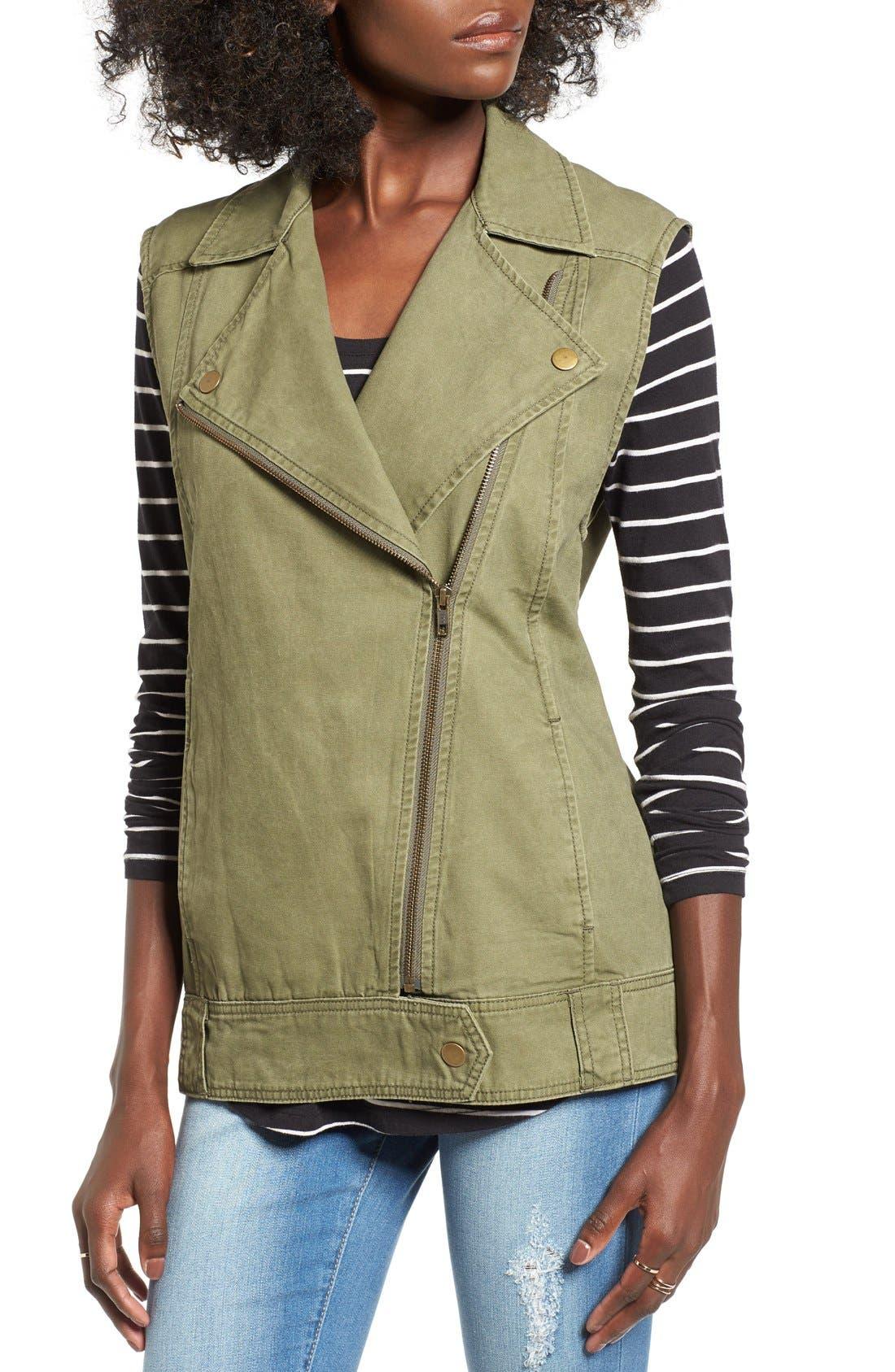 BP., Cotton Moto Vest, Alternate thumbnail 3, color, 312
