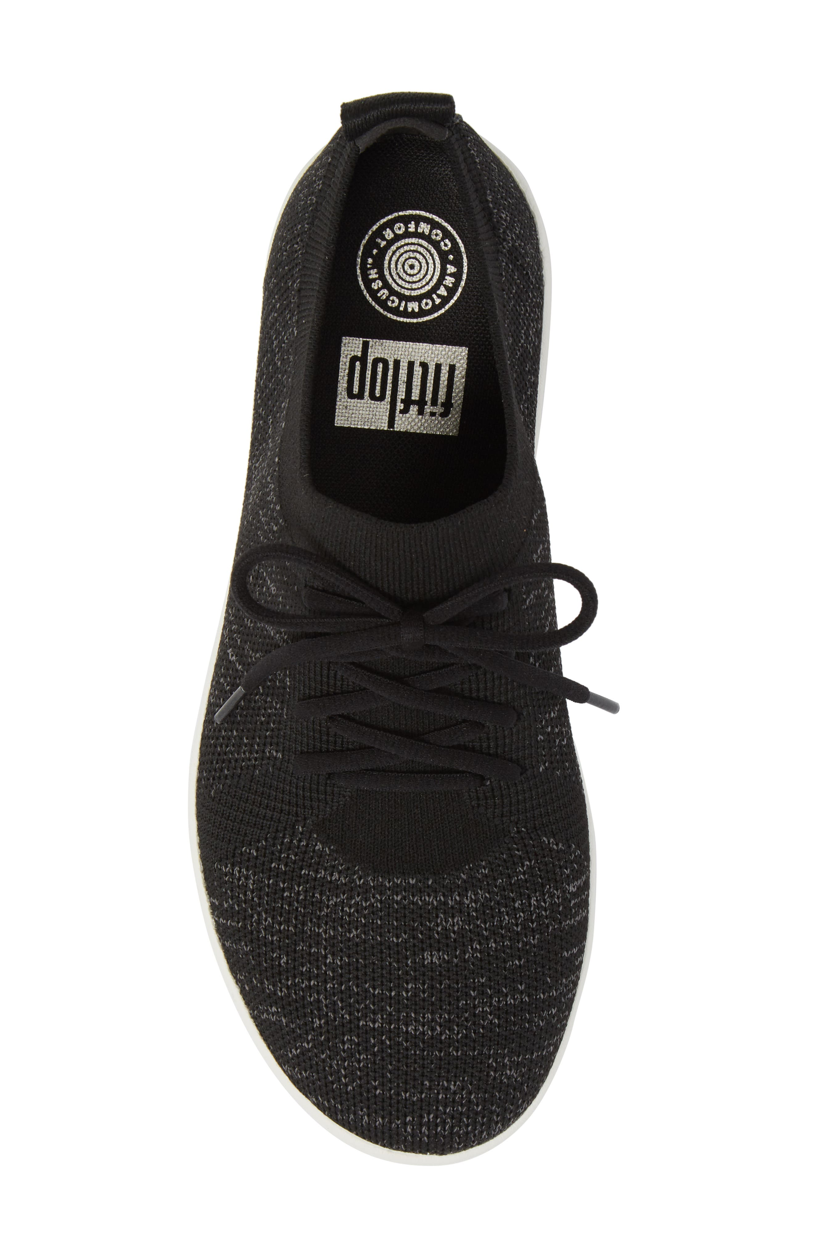 FITFLOP, F-Sporty Uberknit<sup>™</sup> Sneaker, Alternate thumbnail 5, color, BLACK