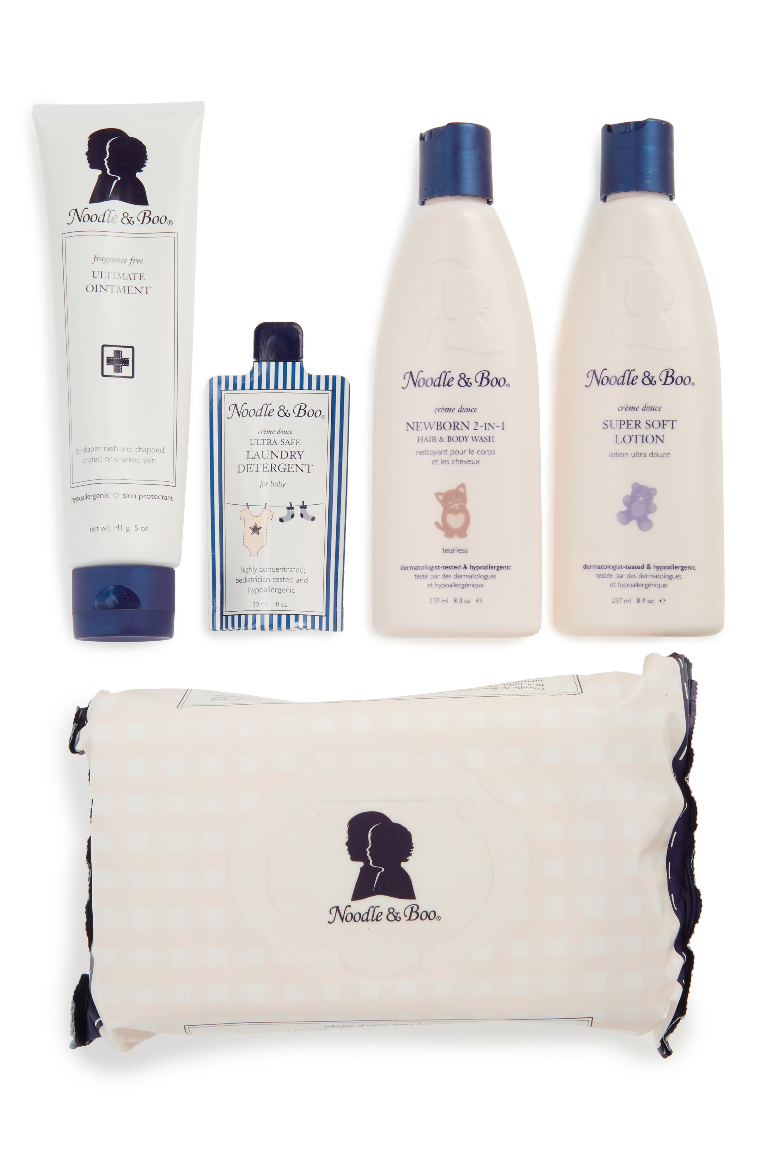 NOODLE & BOO, Newborn Daily Essentials Gift Set, Main thumbnail 1, color, ASSORTED