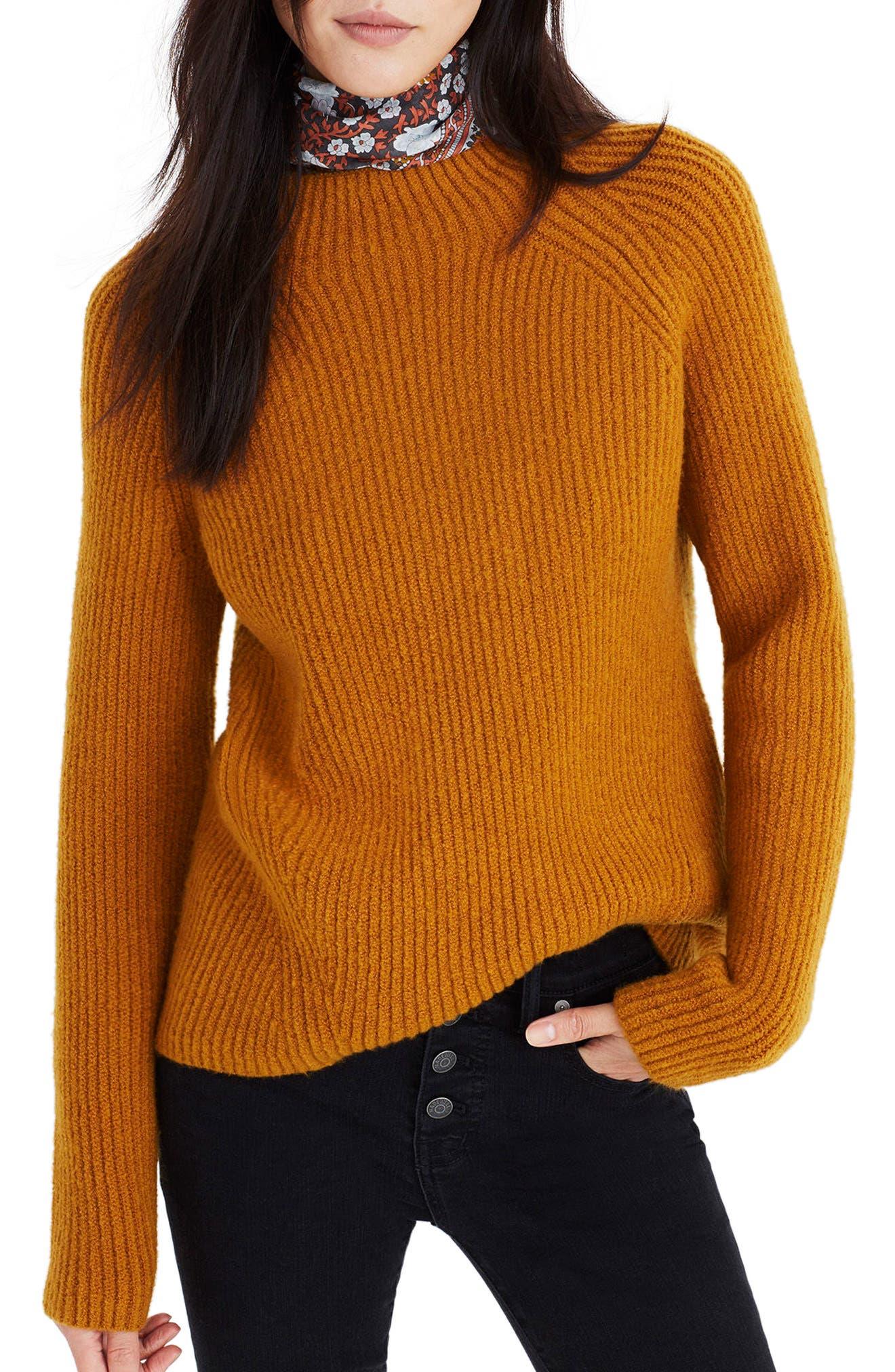 MADEWELL, Northfield Mock Neck Sweater, Main thumbnail 1, color, 800