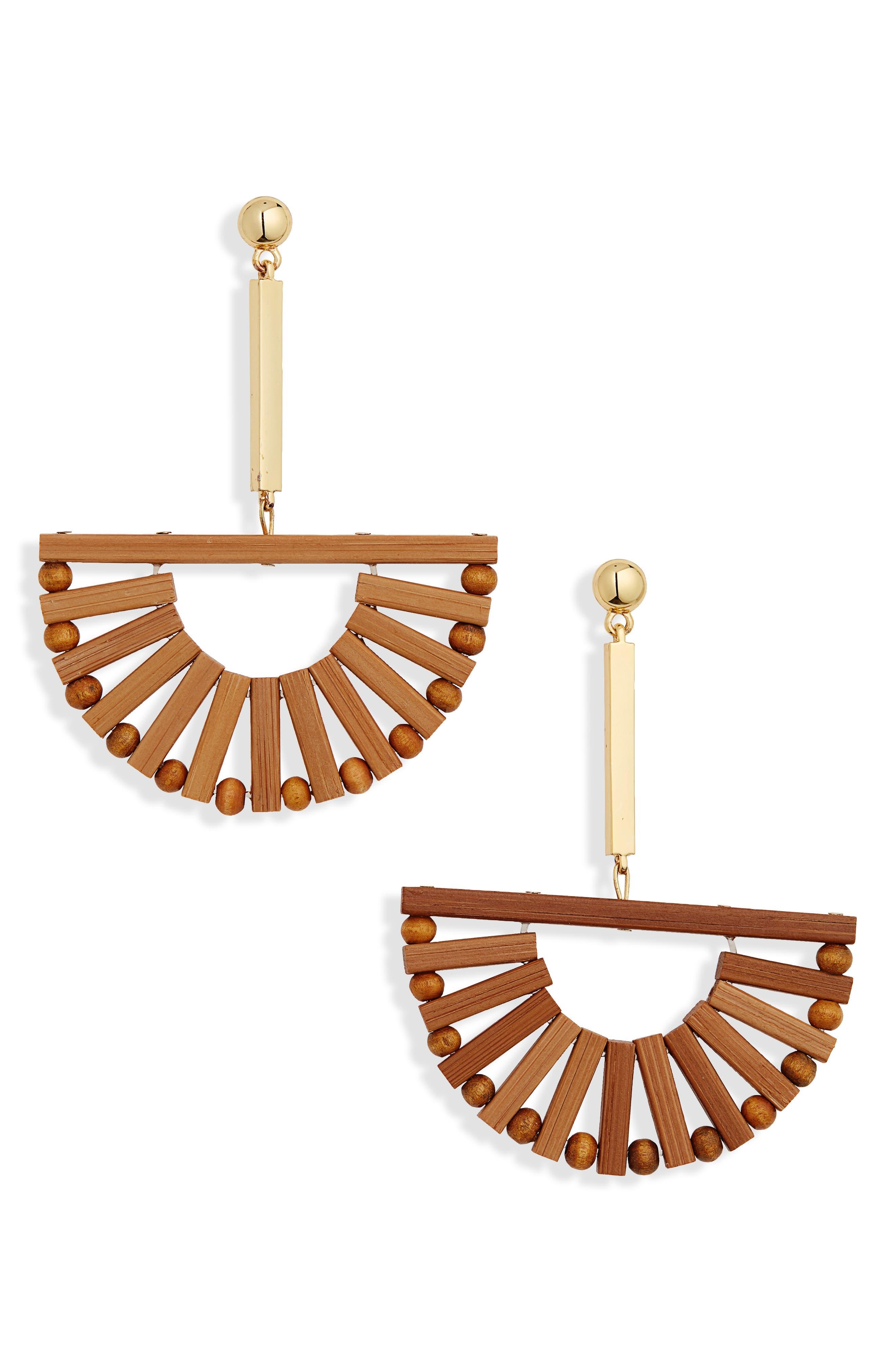 CULT GAIA Ark Earrings, Main, color, TAN NATURAL