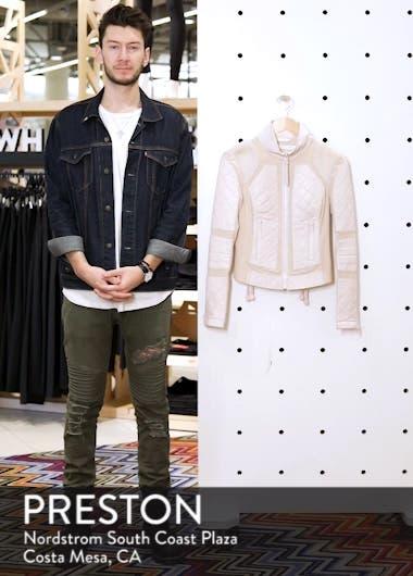 Leather & Mesh Moto Jacket, sales video thumbnail