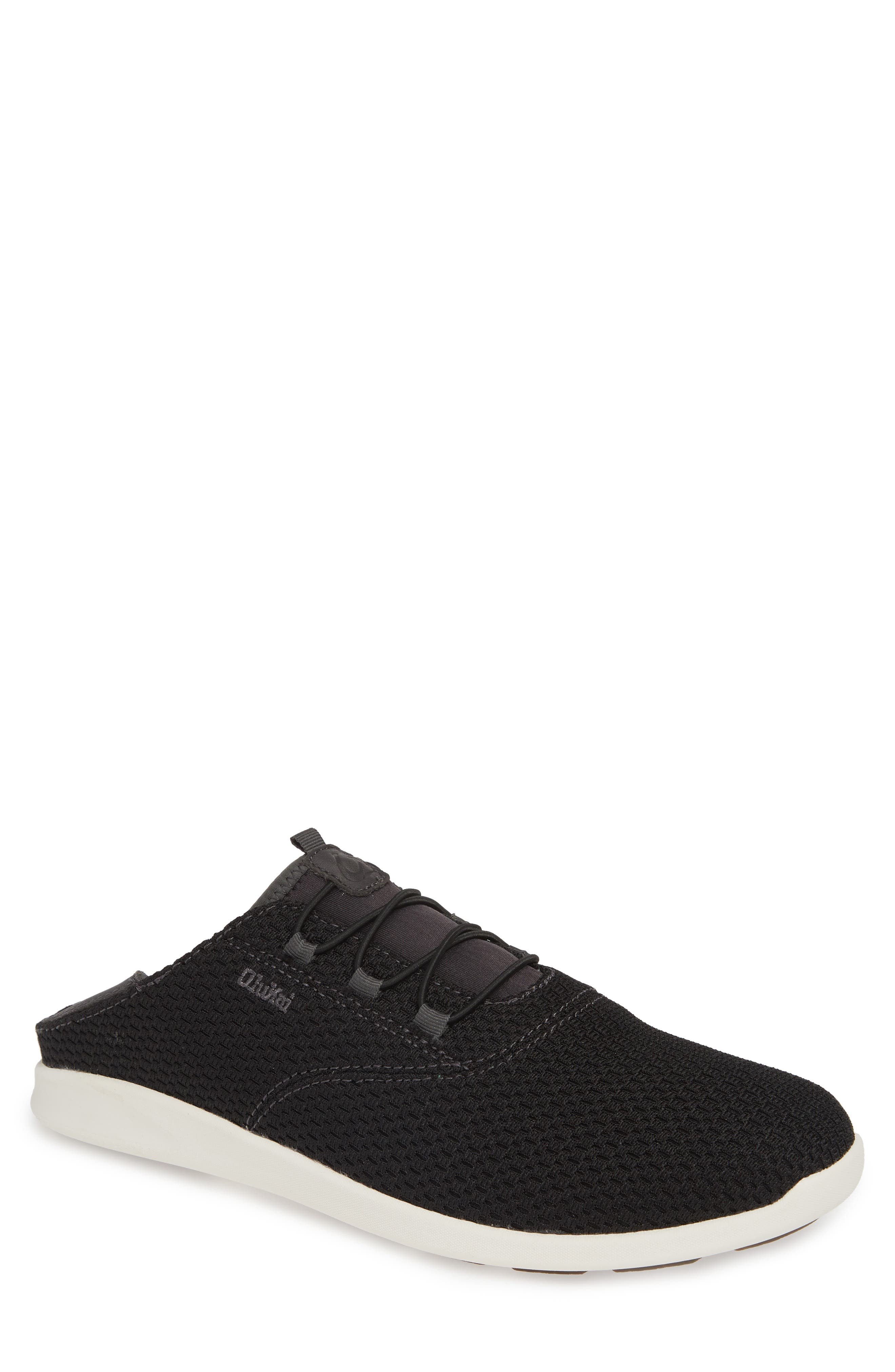 OLUKAI, Alapa Li Sneaker, Main thumbnail 1, color, BLACK/ DARK SHADOW MESH
