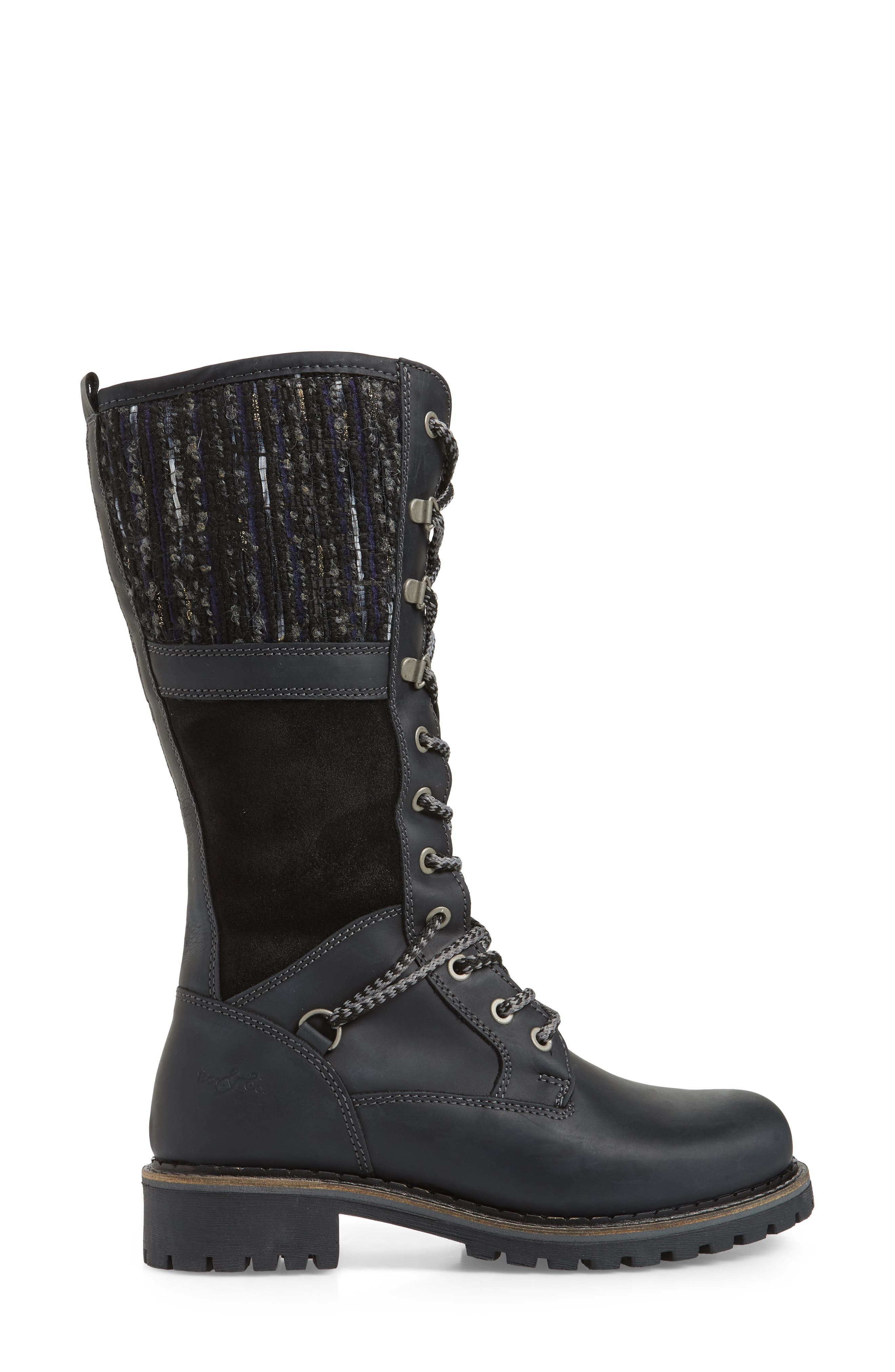 BOS. & CO., Holland Waterproof Boot, Alternate thumbnail 3, color, BLACK OIL SUEDE