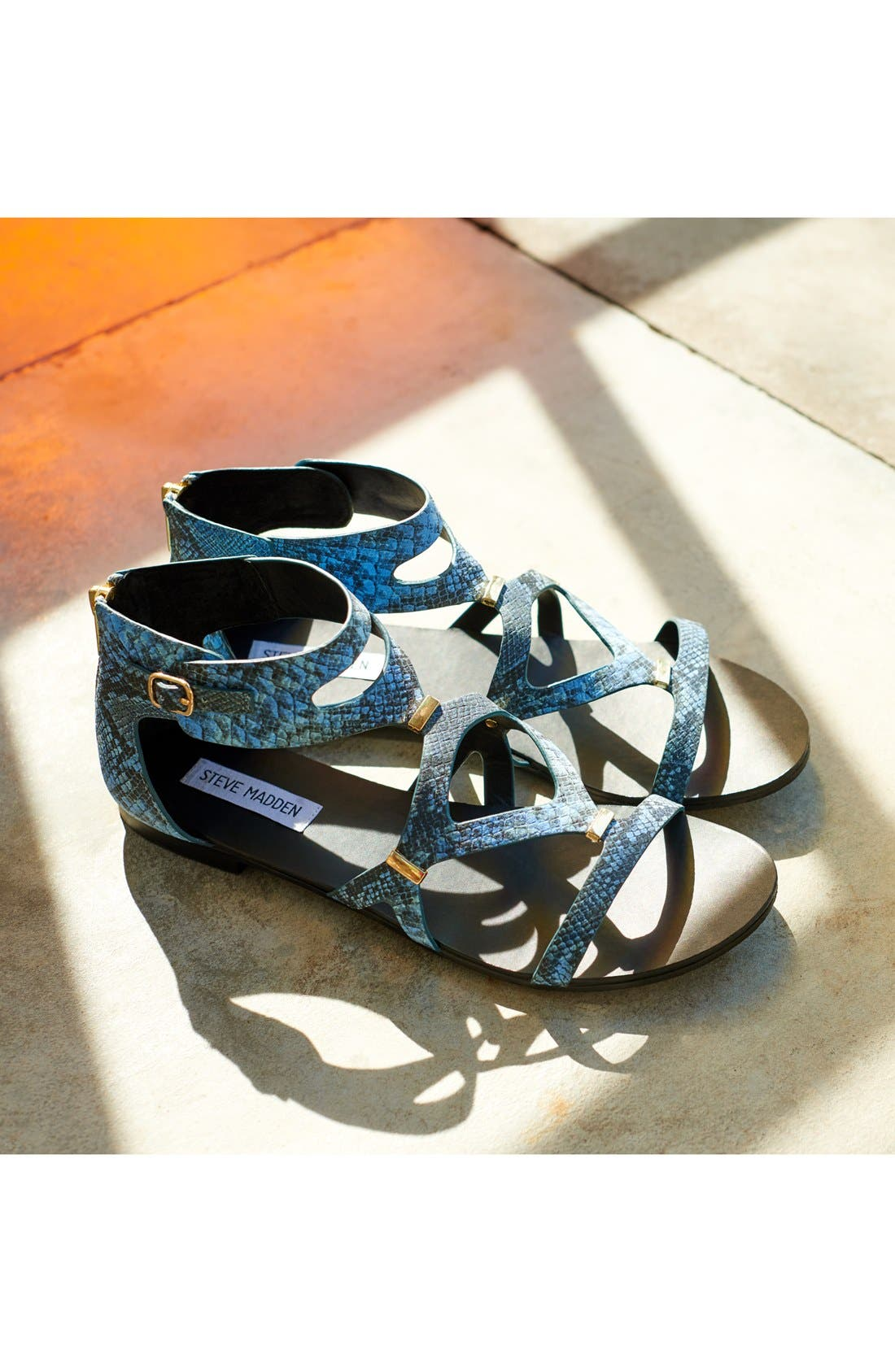 STEVE MADDEN, 'Comly' Gladiator Sandal, Main thumbnail 1, color, 100