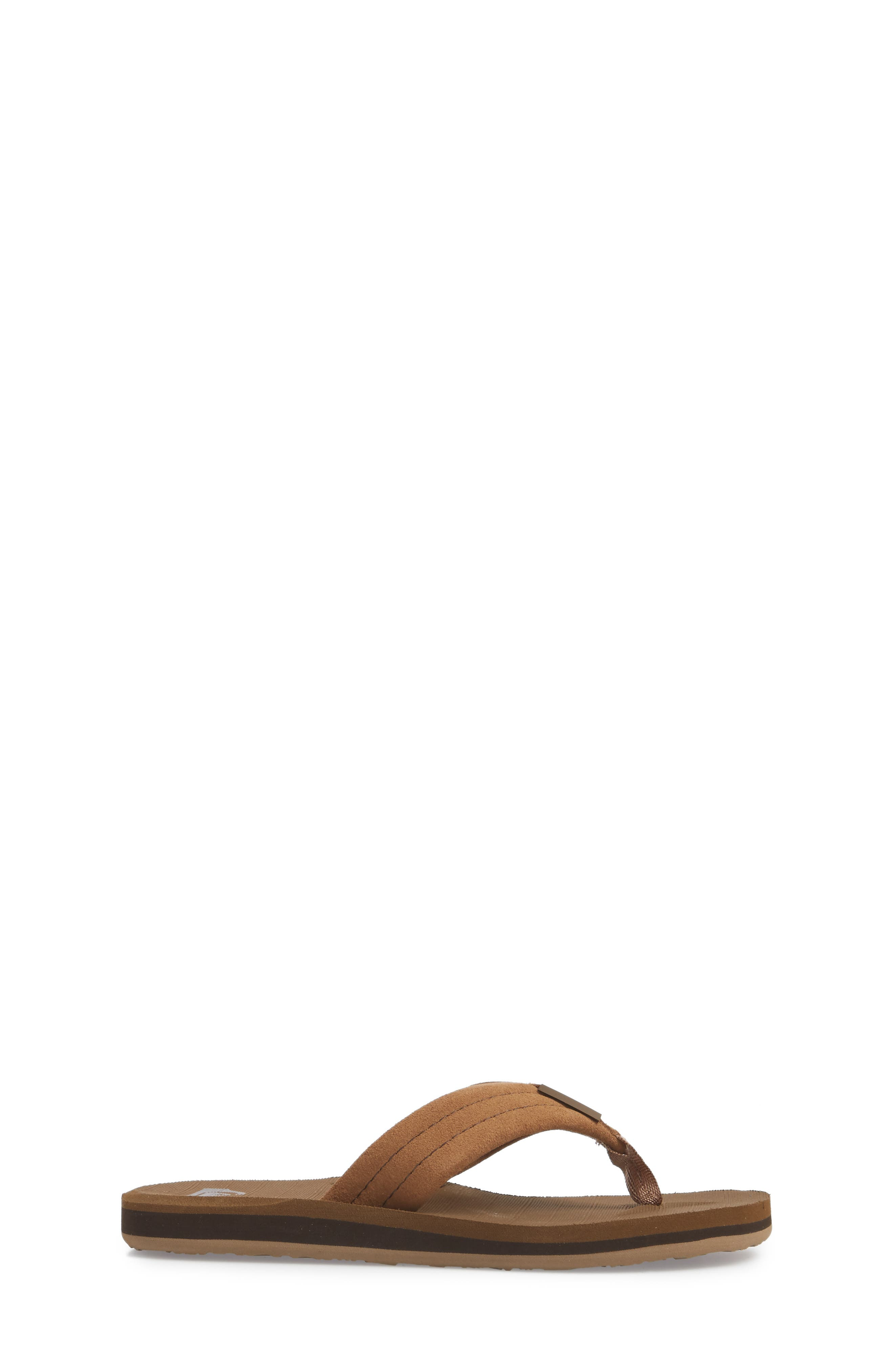 QUIKSILVER, Carver Flip Flop, Alternate thumbnail 3, color, TAN