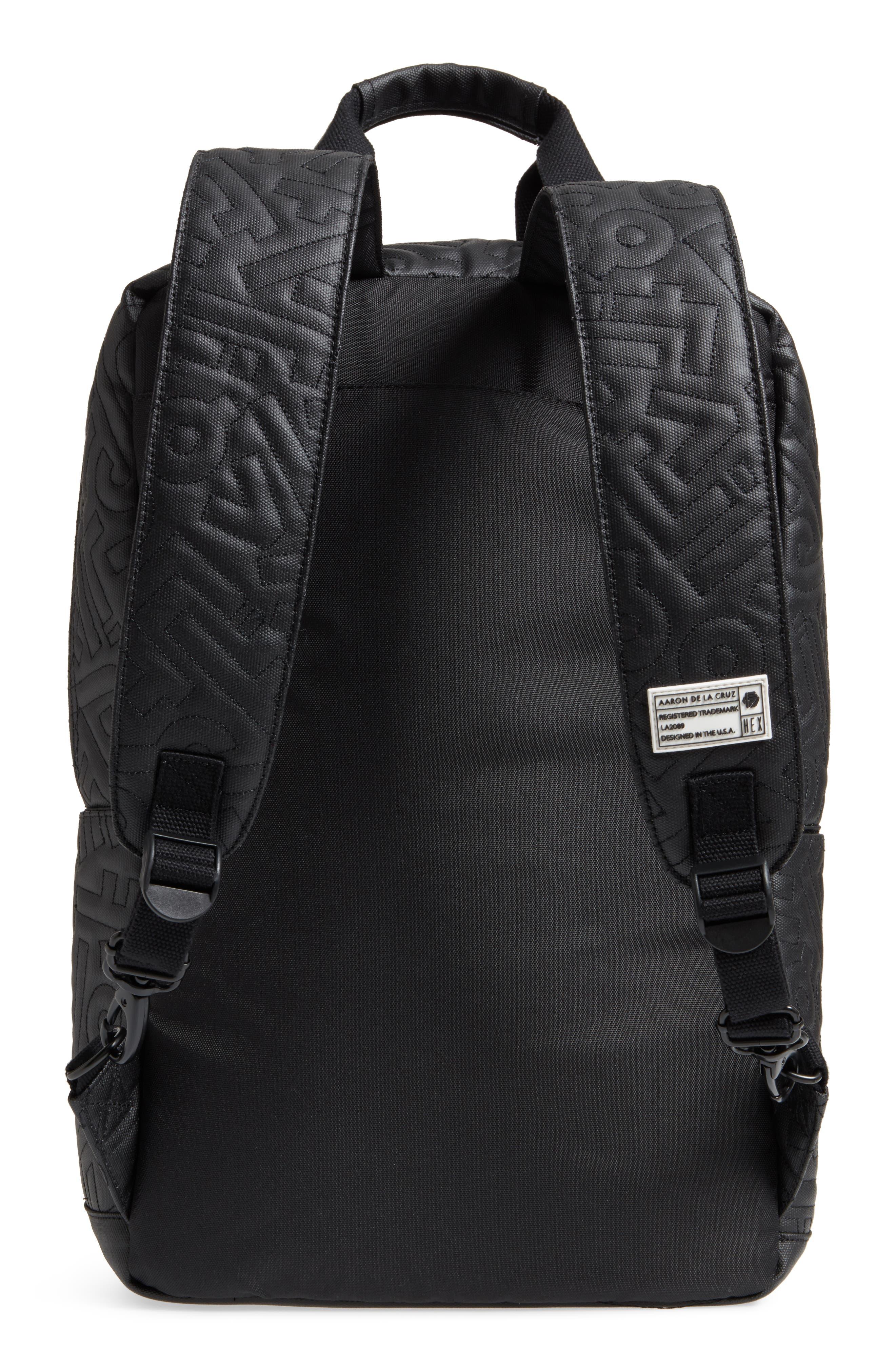 HEX, x Aaron De La Cruz Convertible Backpack, Alternate thumbnail 5, color, 003