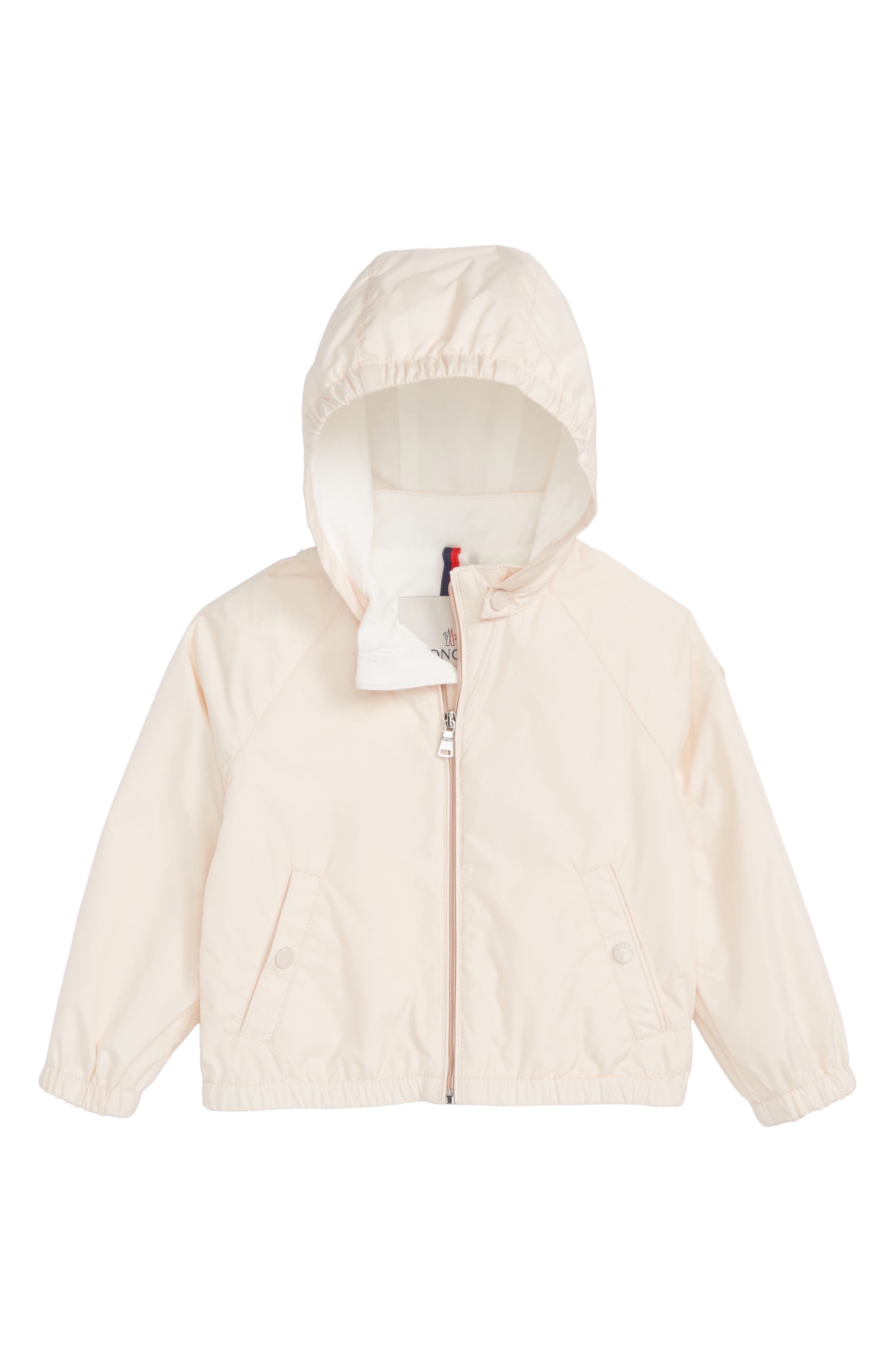 MONCLER, Eustache Jersey Lined Windbreaker, Main thumbnail 1, color, PINK