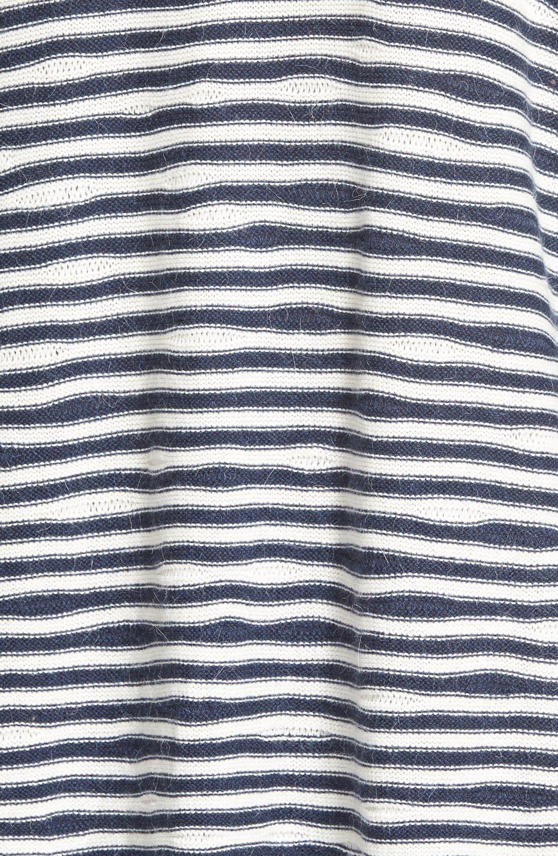 TREASURE & BOND, Treasure&Bond Asymmetrical Stripe Sweater, Alternate thumbnail 2, color, 400