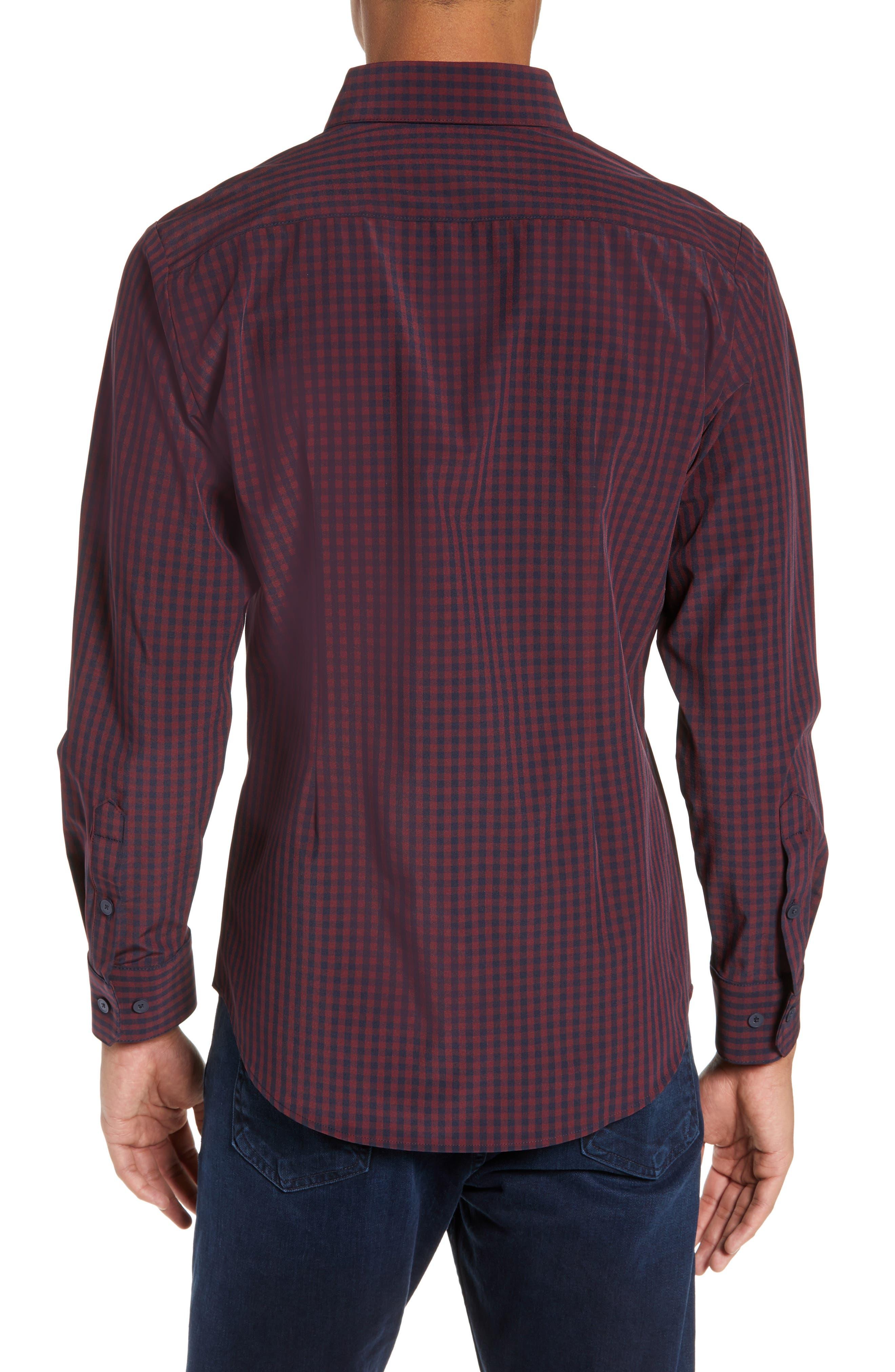 MIZZEN+MAIN, Marshall Check Sport Shirt, Alternate thumbnail 3, color, 930