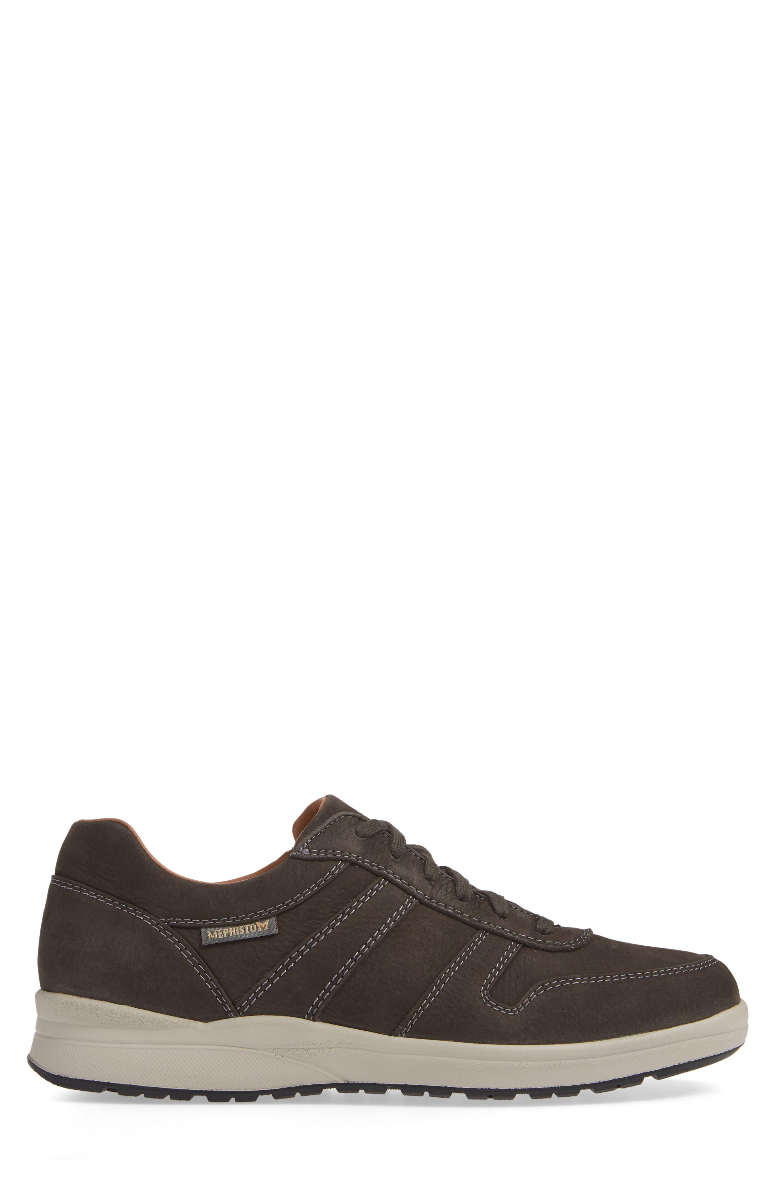 MEPHISTO, Vito Sneaker, Alternate thumbnail 3, color, GRAPHITE SPORTBUCK