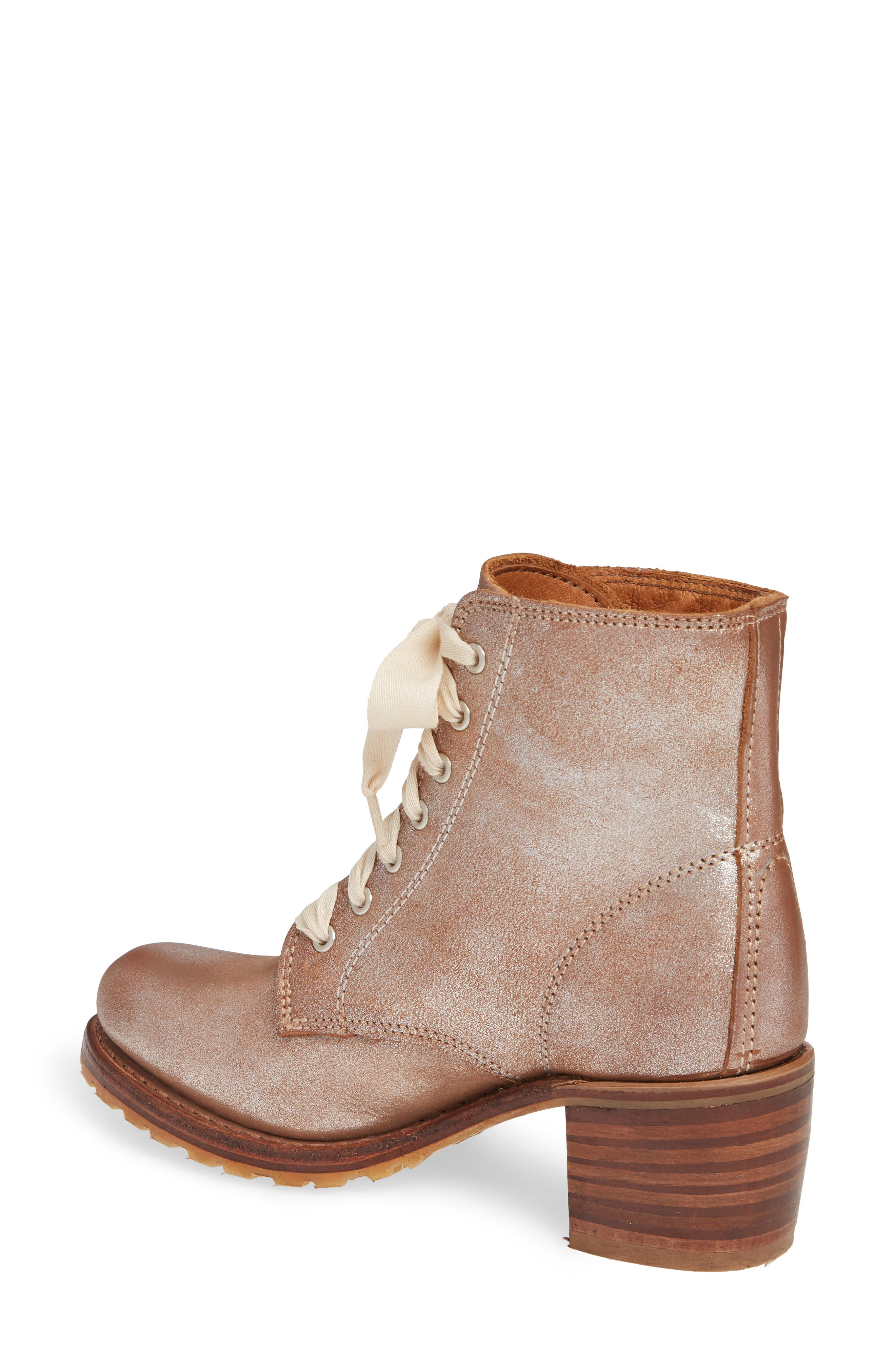 FRYE, 'Sabrina' Boot, Alternate thumbnail 2, color, SILVER LEATHER