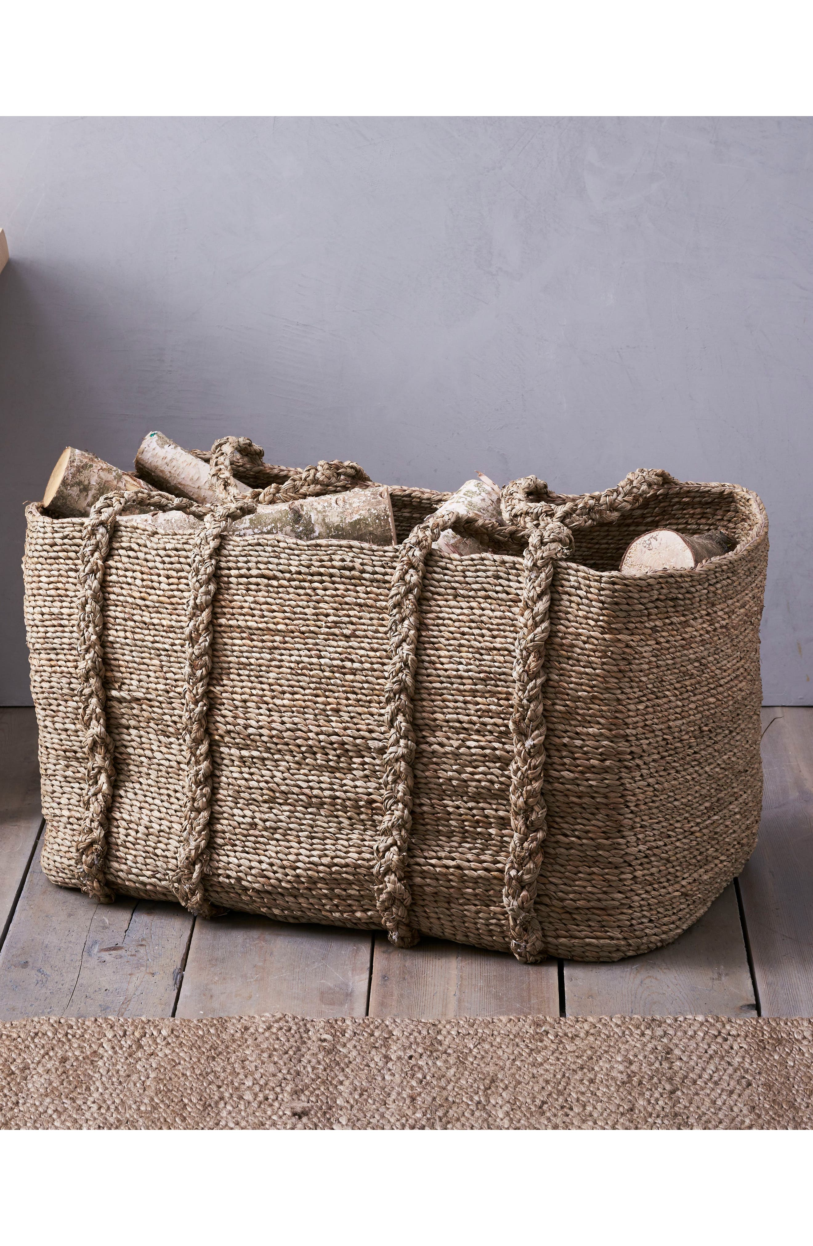 THE WHITE COMPANY, Large Woven Storage Basket, Main thumbnail 1, color, NATURAL
