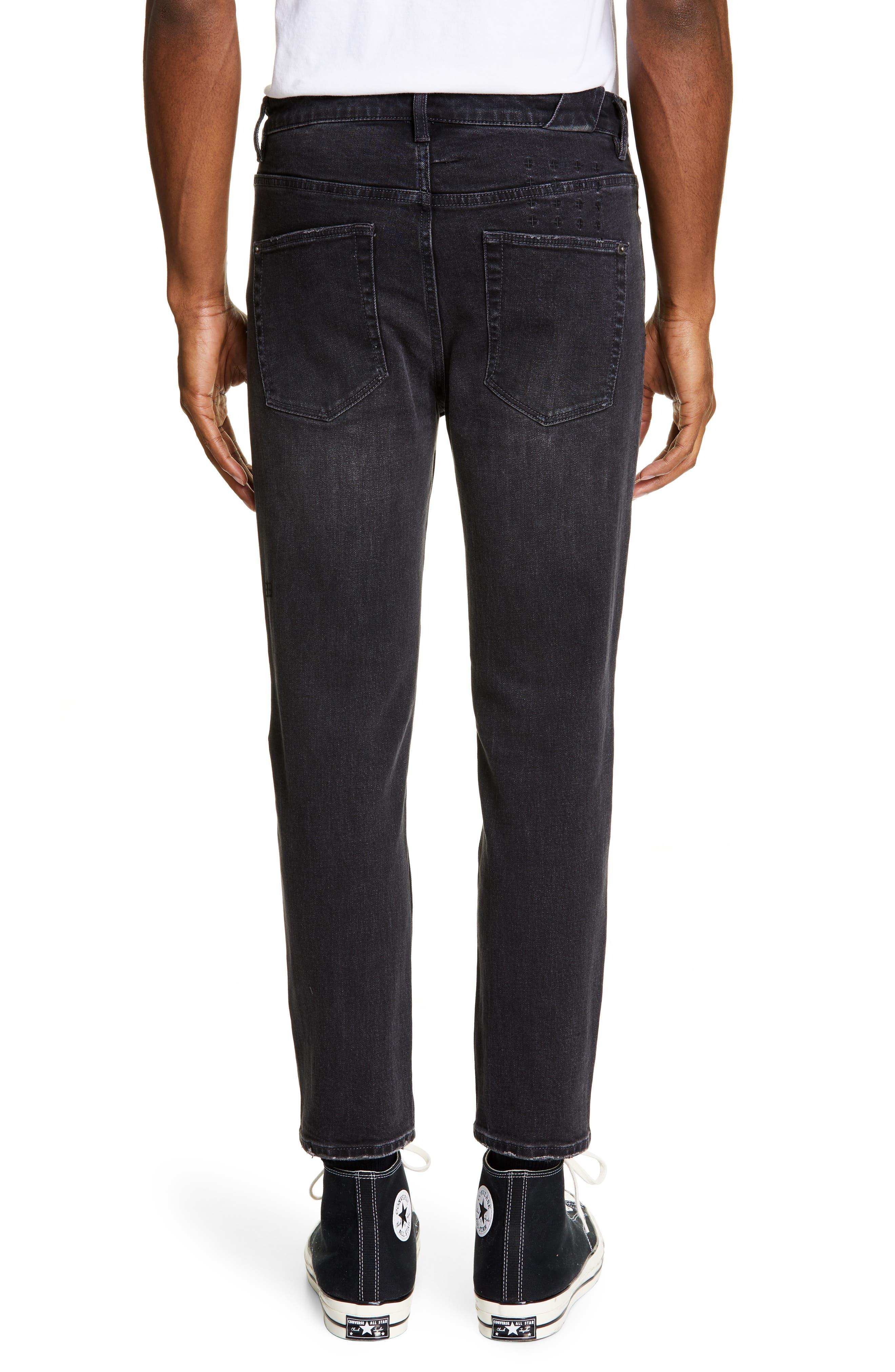 KSUBI, Chitch Hard Rock Skinny Fit Crop Jeans, Alternate thumbnail 2, color, BLACK