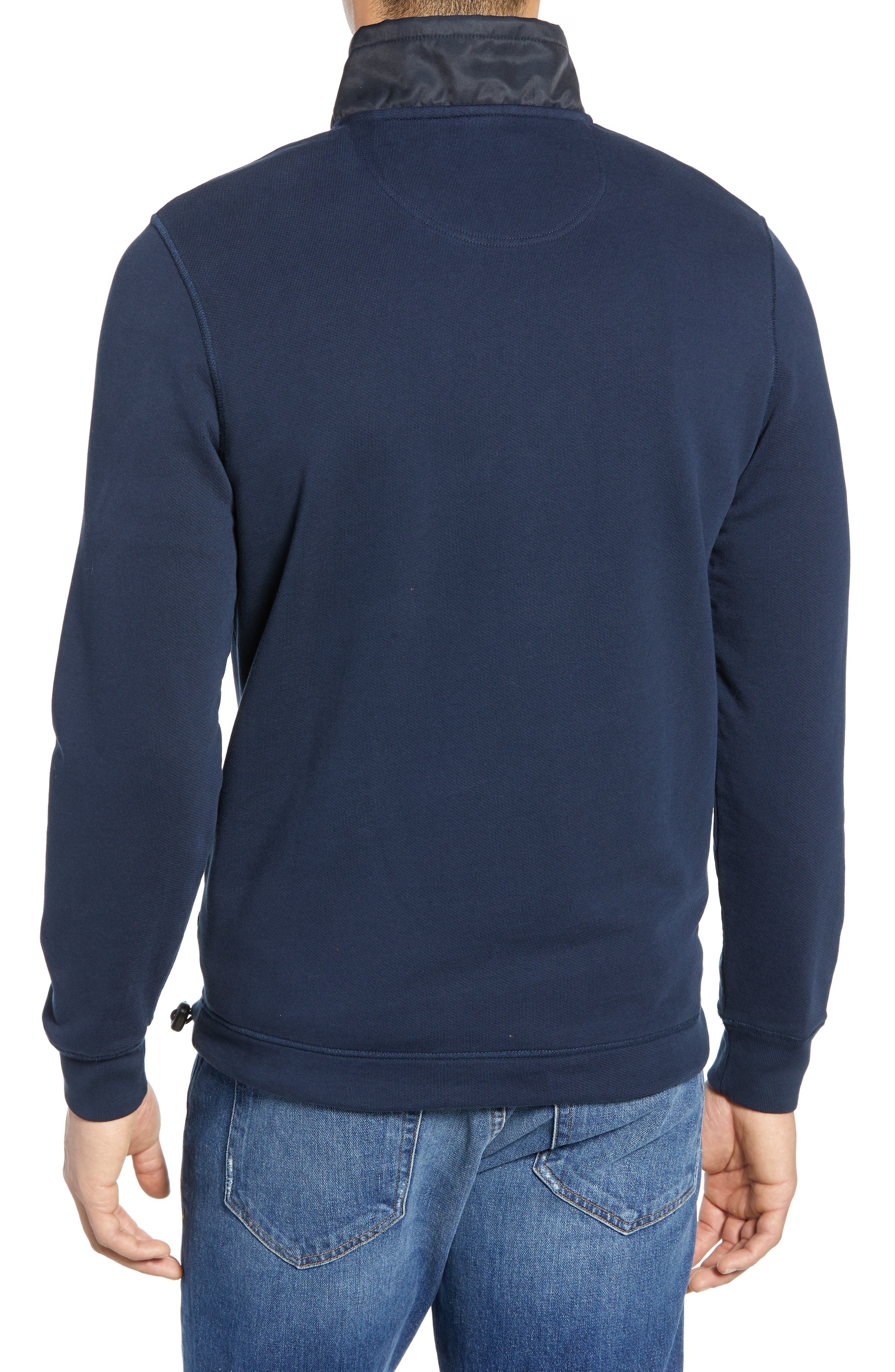 BARBOUR, Seward Half Zip Pullover, Alternate thumbnail 2, color, NAVY