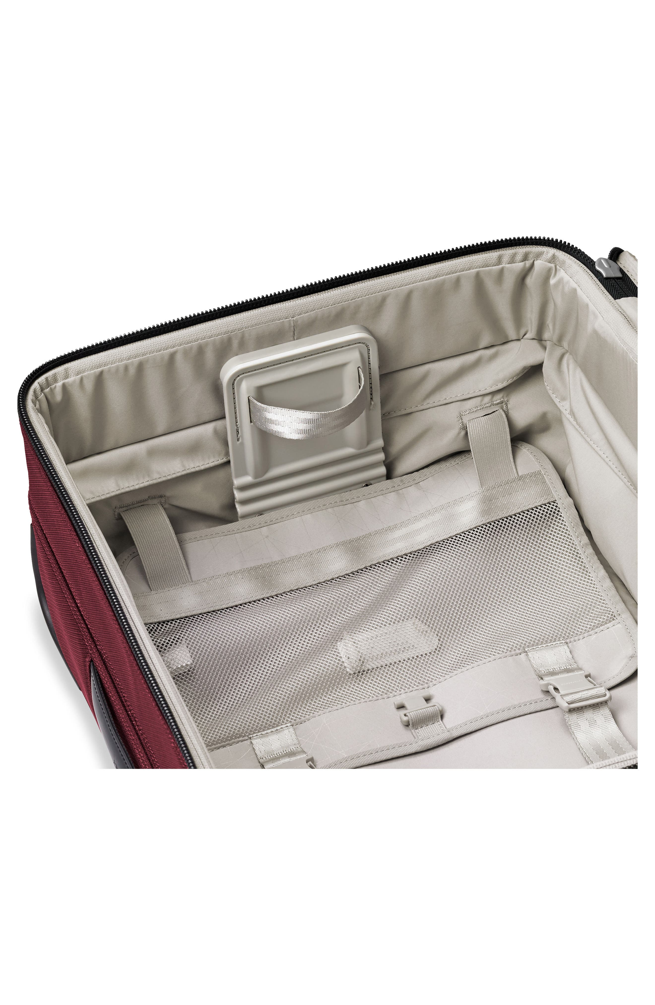 BRIGGS & RILEY, Transcend VX Tall Expandable 22-Inch Spinner Suitcase, Alternate thumbnail 5, color, MERLOT RED