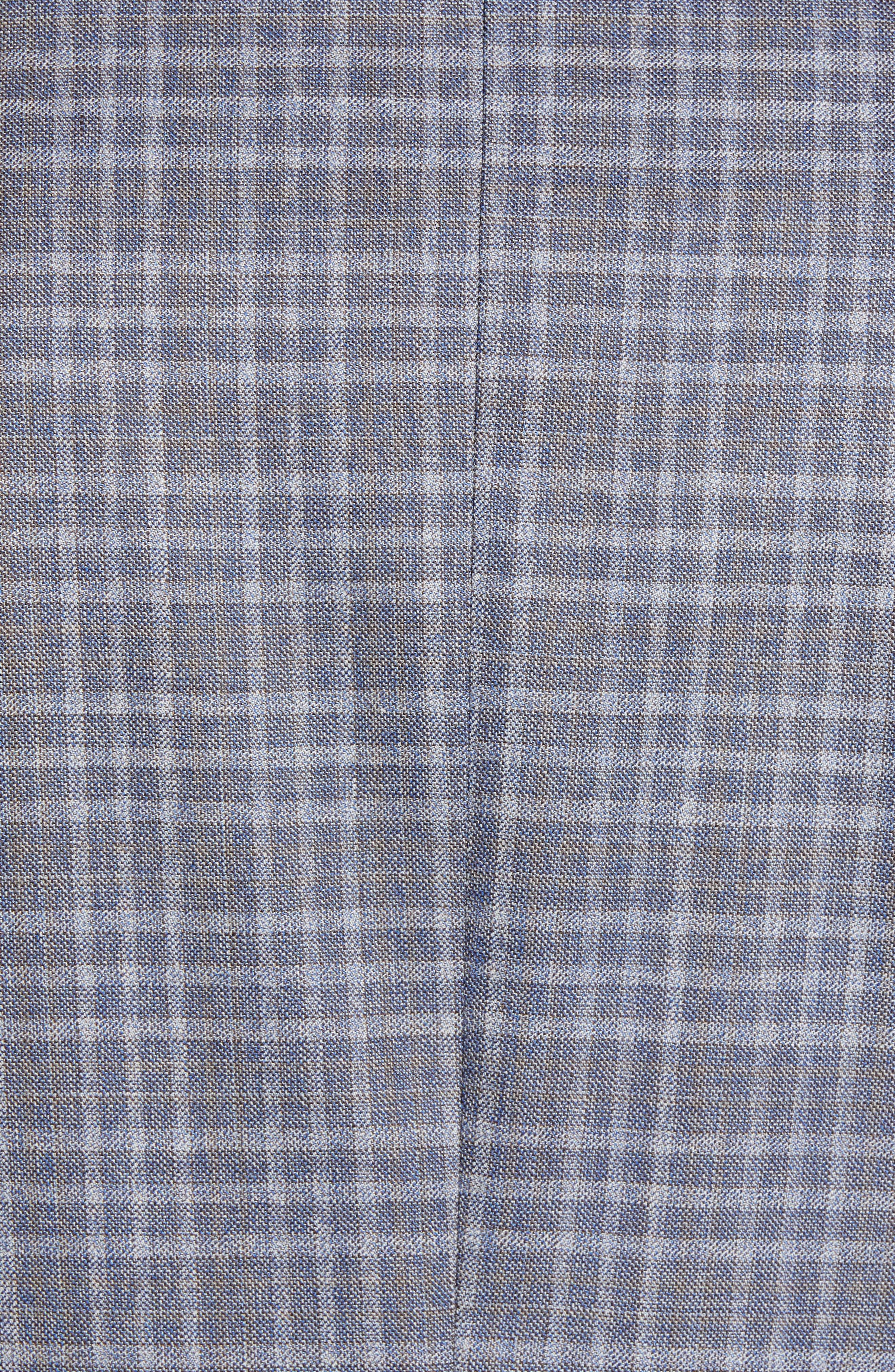 JOHN W. NORDSTROM<SUP>®</SUP>, Classic Fit Plaid Wool Sport Coat, Alternate thumbnail 6, color, 420