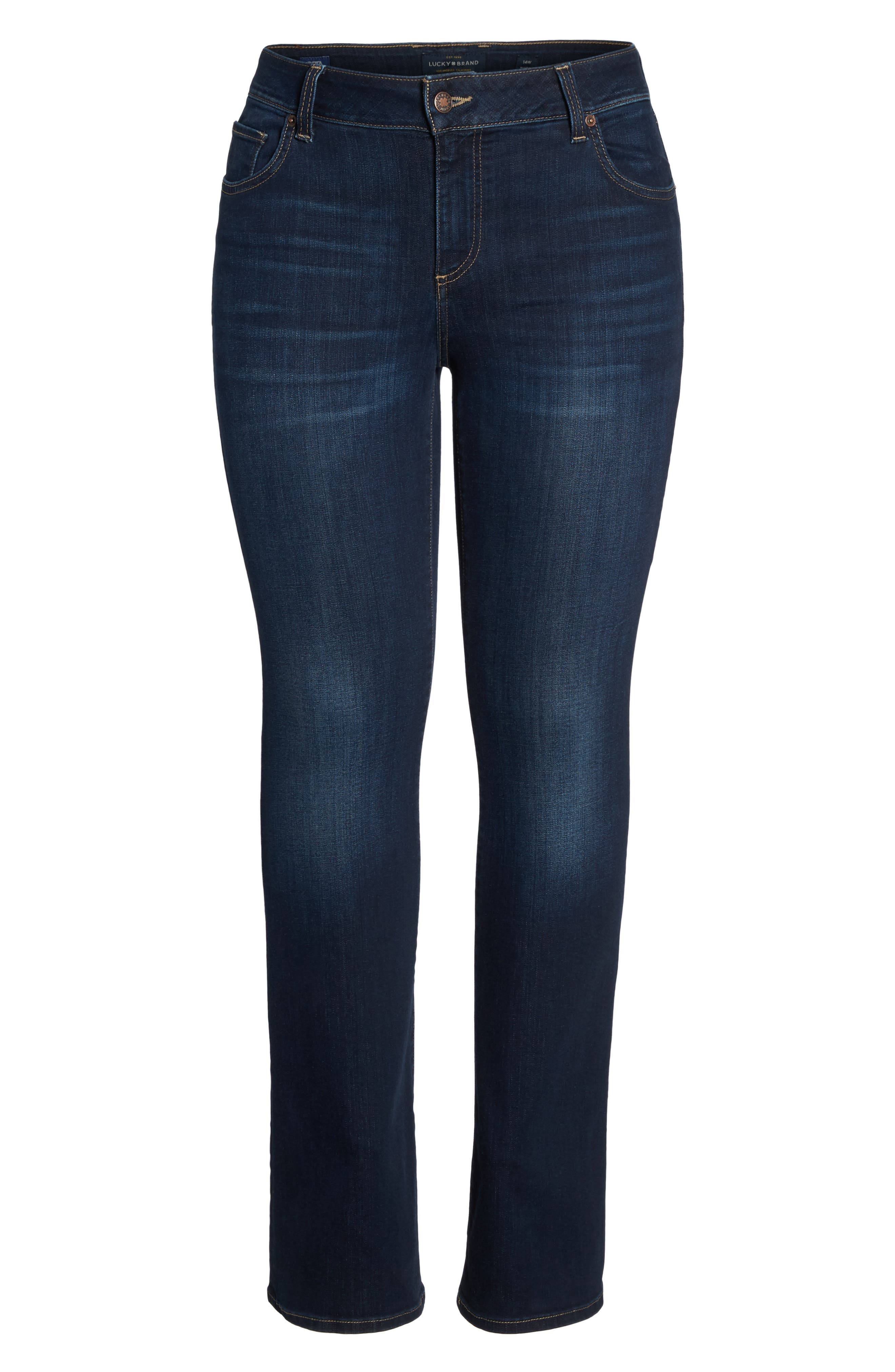 LUCKY BRAND, Ginger Bootcut Jeans, Alternate thumbnail 6, color, TWILIGHT BLUE