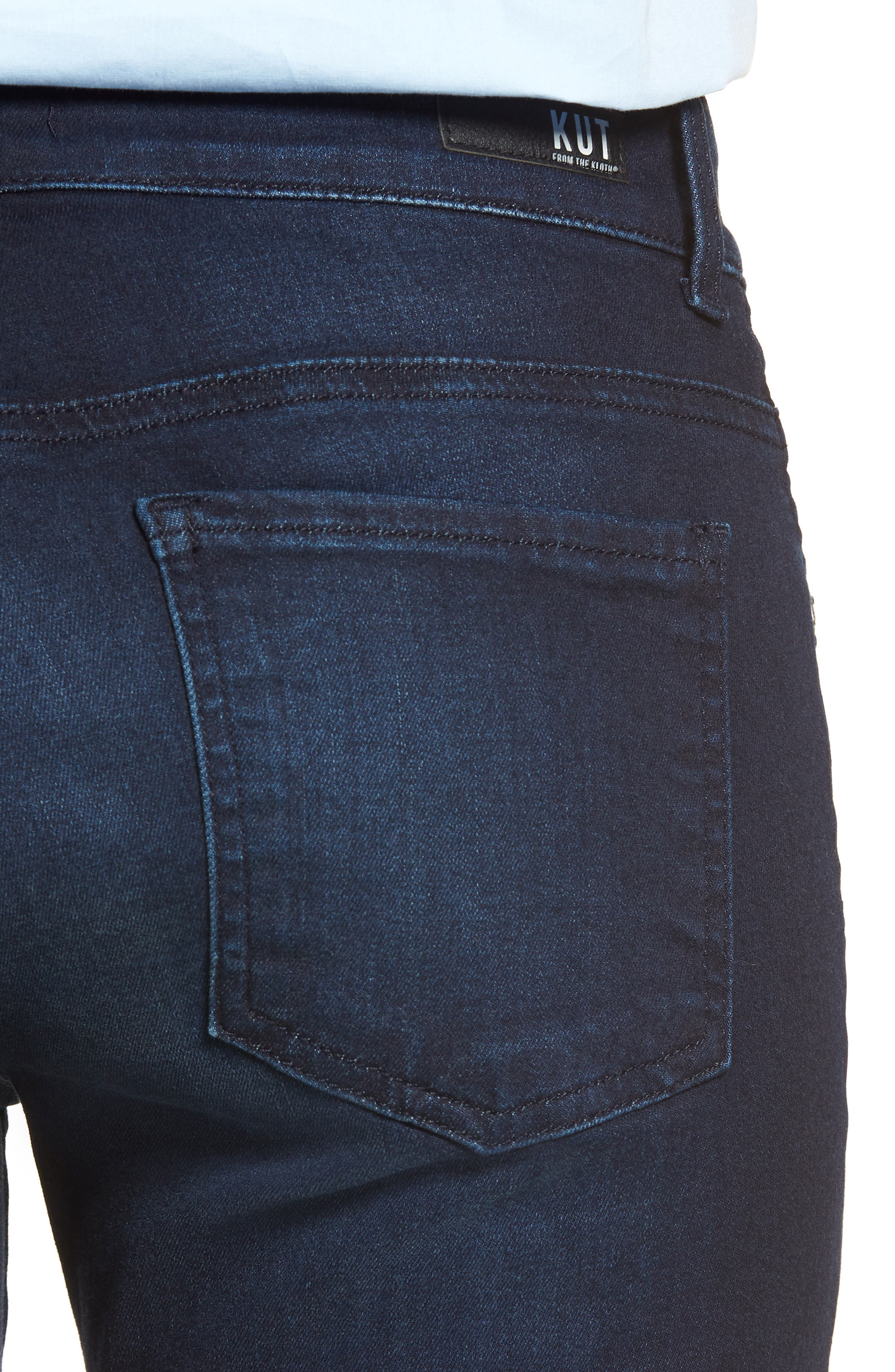 KUT FROM THE KLOTH, Natalie Stretch Bootleg Jeans, Alternate thumbnail 4, color, LIBERATING