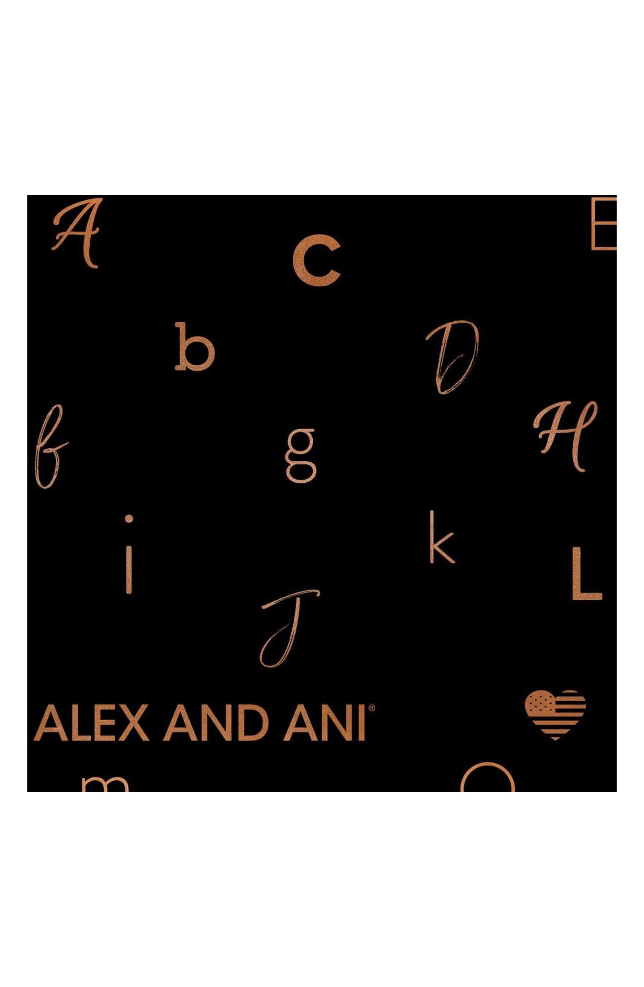 ALEX AND ANI, Two-Tone Initial Charm Expandable Bracelet, Alternate thumbnail 4, color, TWO-TONE-A
