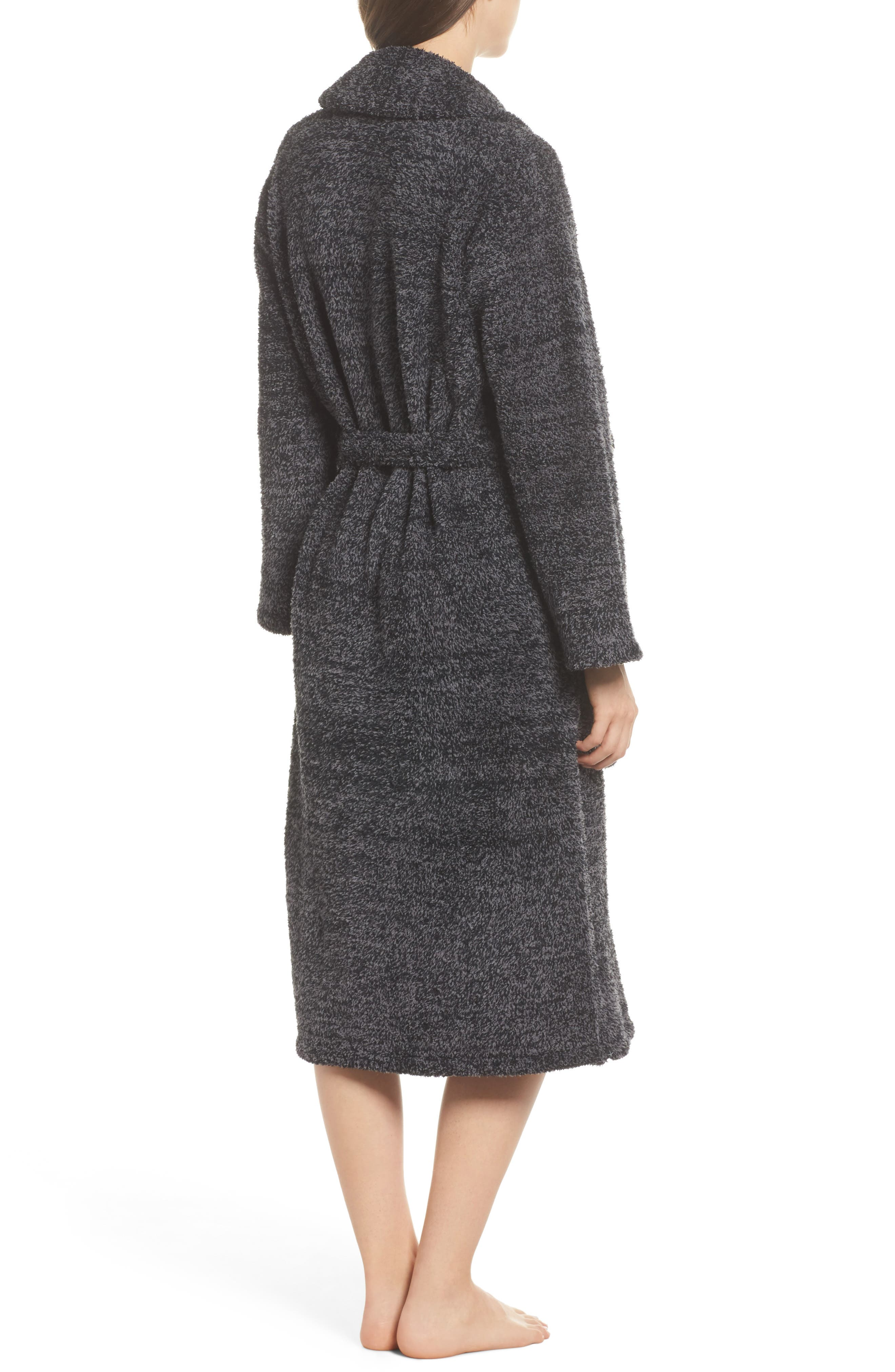 BAREFOOT DREAMS<SUP>®</SUP>, CozyChic<sup>®</sup> Robe, Alternate thumbnail 2, color, BLACK/ GRAPHITE