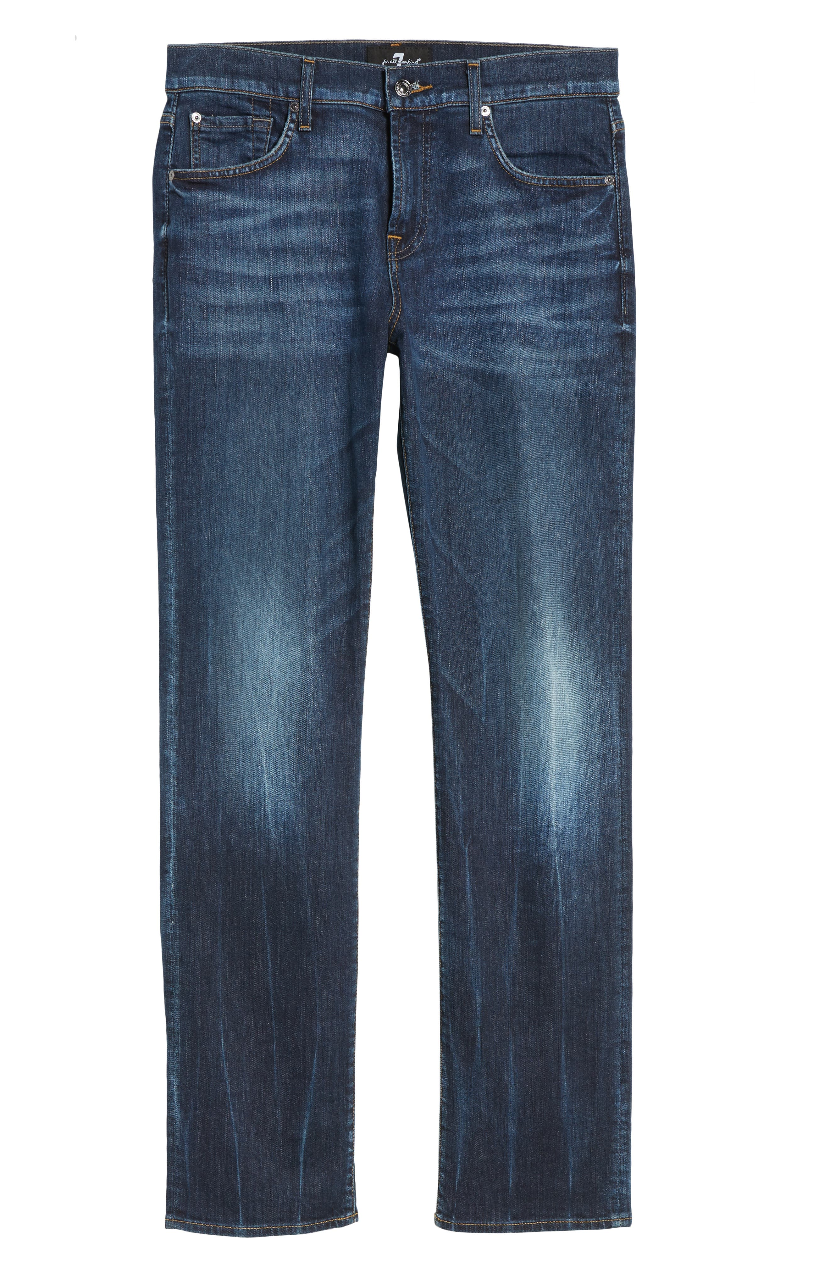 7 FOR ALL MANKIND<SUP>®</SUP>, Luxe Standard Straight Leg Jeans, Alternate thumbnail 6, color, 414