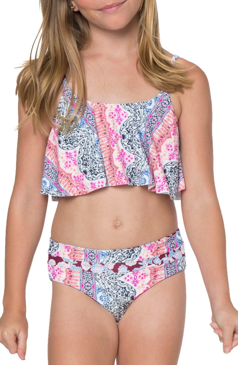 7c2ad7739733 O'Neill Cruz Ruffle Two-Piece Swimsuit (Big Girls) | Nordstrom