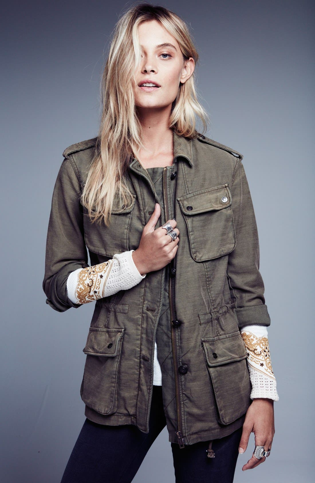 FREE PEOPLE, 'Not Your Brother's' Utility Jacket, Alternate thumbnail 5, color, 400