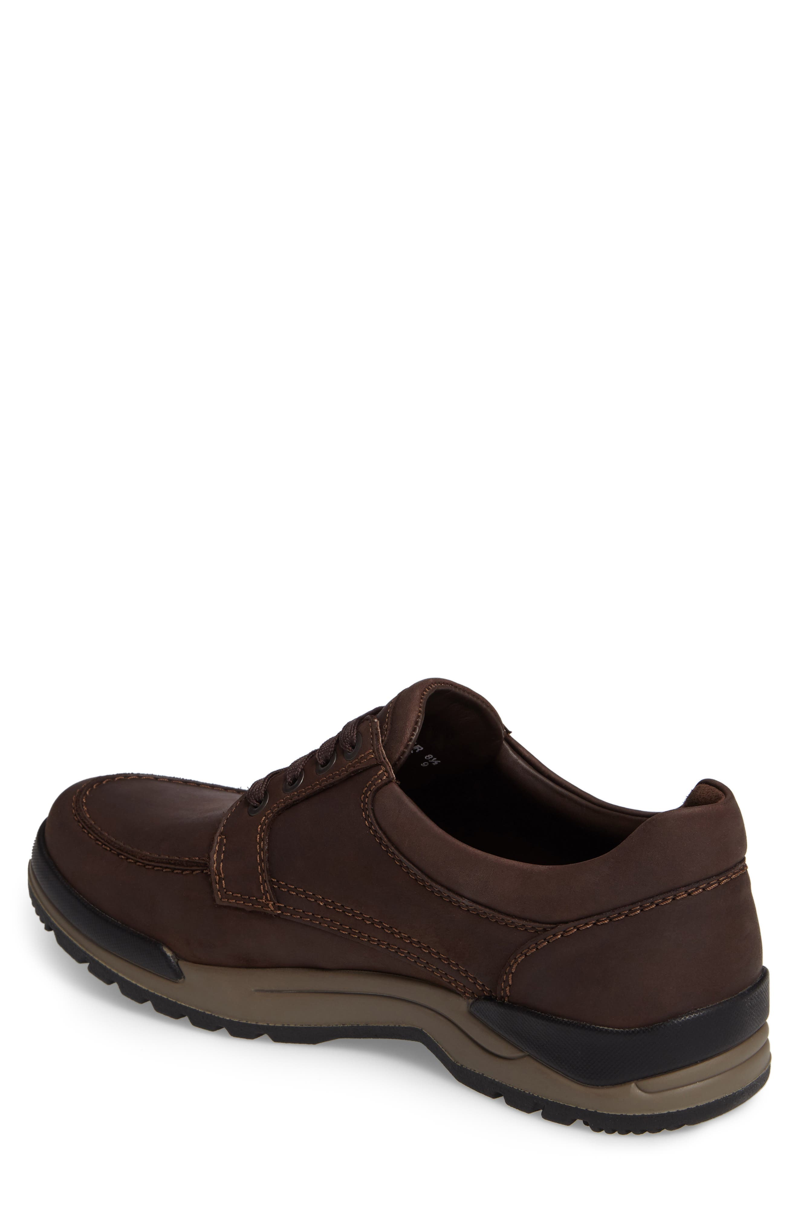 MEPHISTO, Charles Waterproof Walking Shoe, Alternate thumbnail 2, color, DARK BROWN