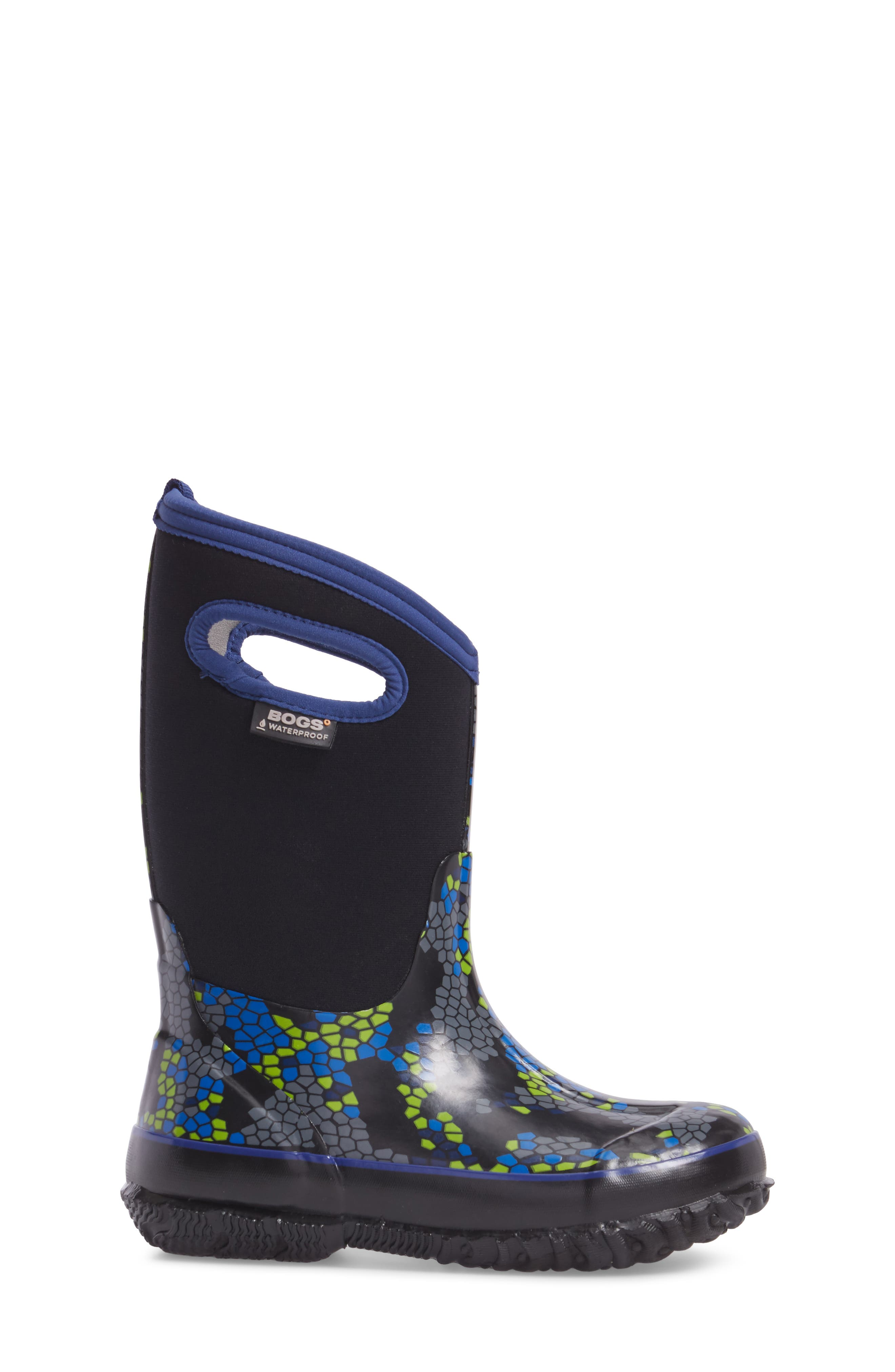 BOGS, Classic Axel Insulated Waterproof Boot, Alternate thumbnail 3, color, BLACK MULTI