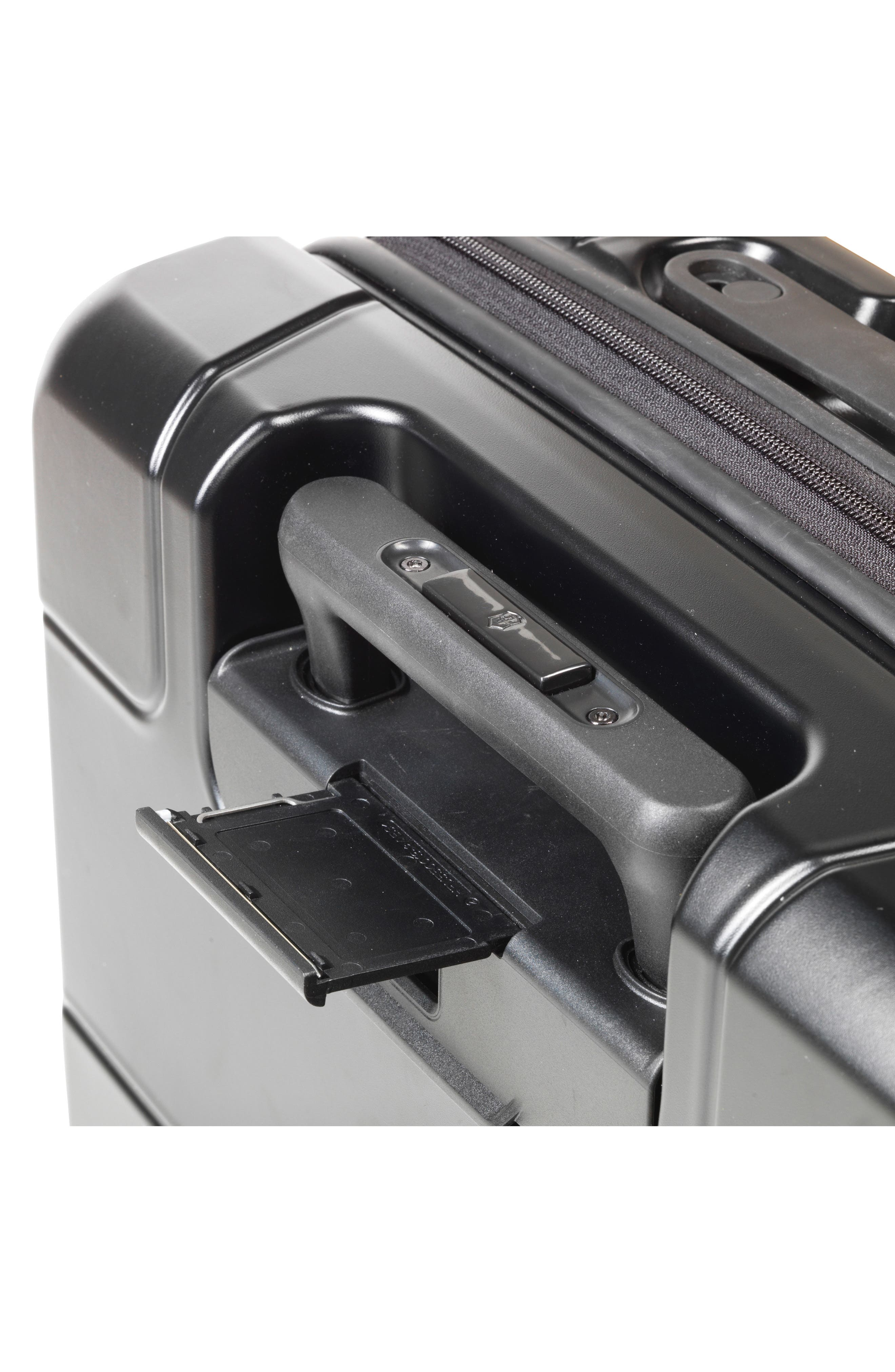 VICTORINOX SWISS ARMY<SUP>®</SUP>, Lexicon Frequent Flyer 22-Inch Wheeled Carry-On, Alternate thumbnail 5, color, BLACK