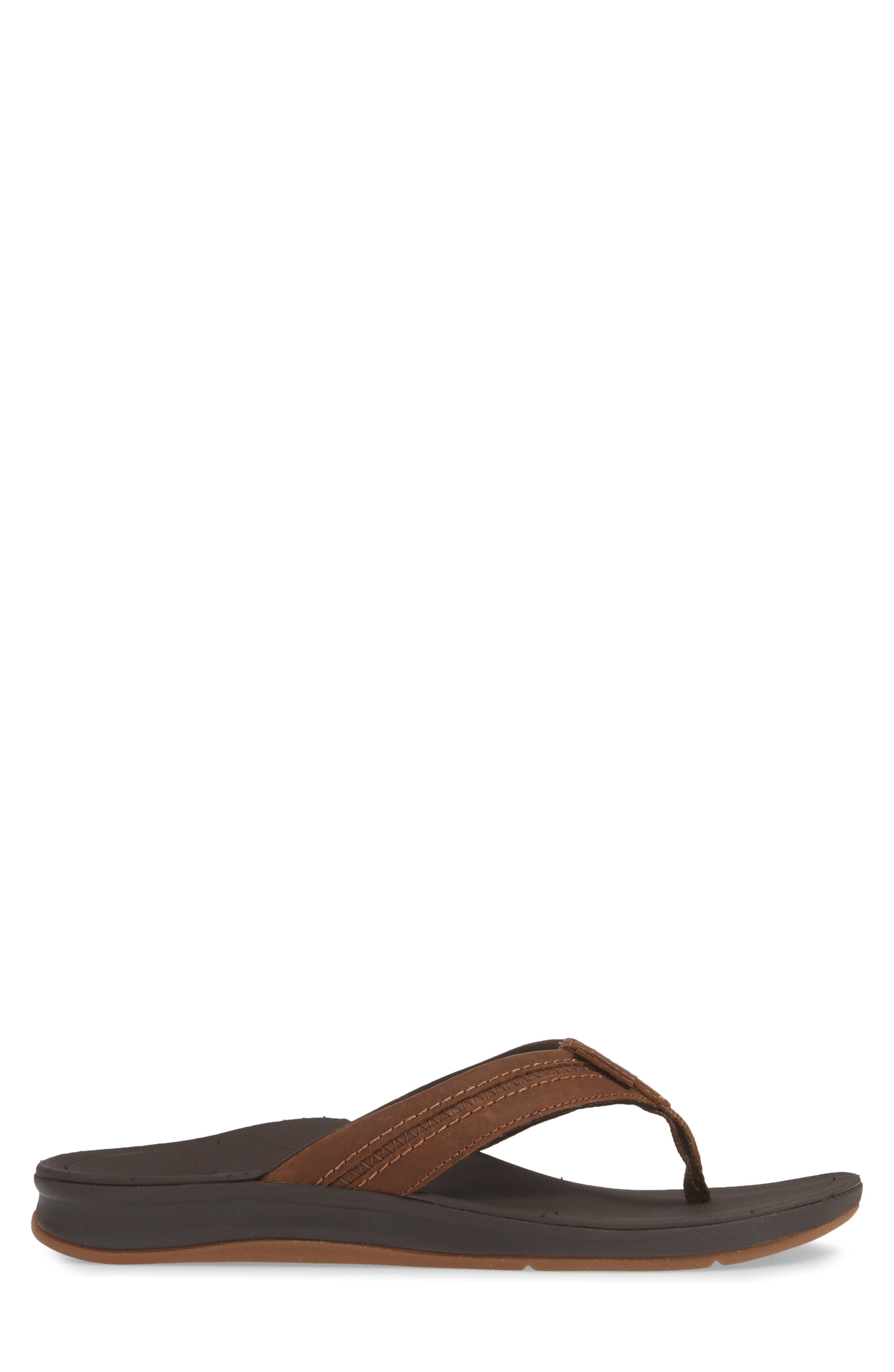 REEF, Ortho Bounce Coast Flip Flop, Alternate thumbnail 3, color, BROWN