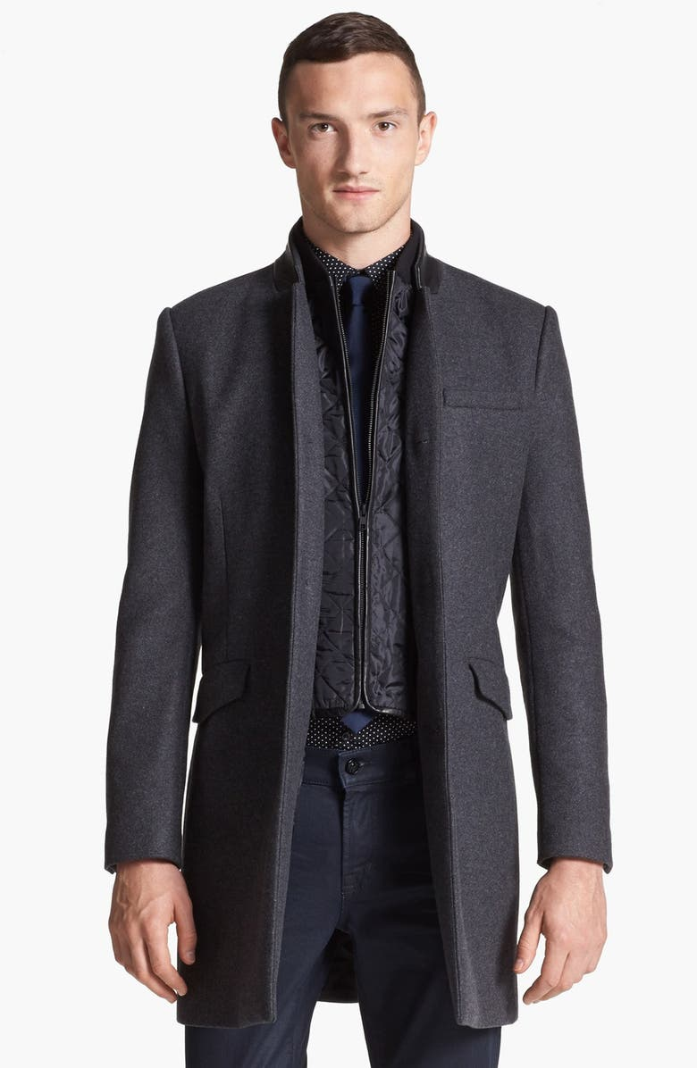 c95a9d1c23f THE KOOPLES Topcoat with Zip Out Vest, Main, color, 020