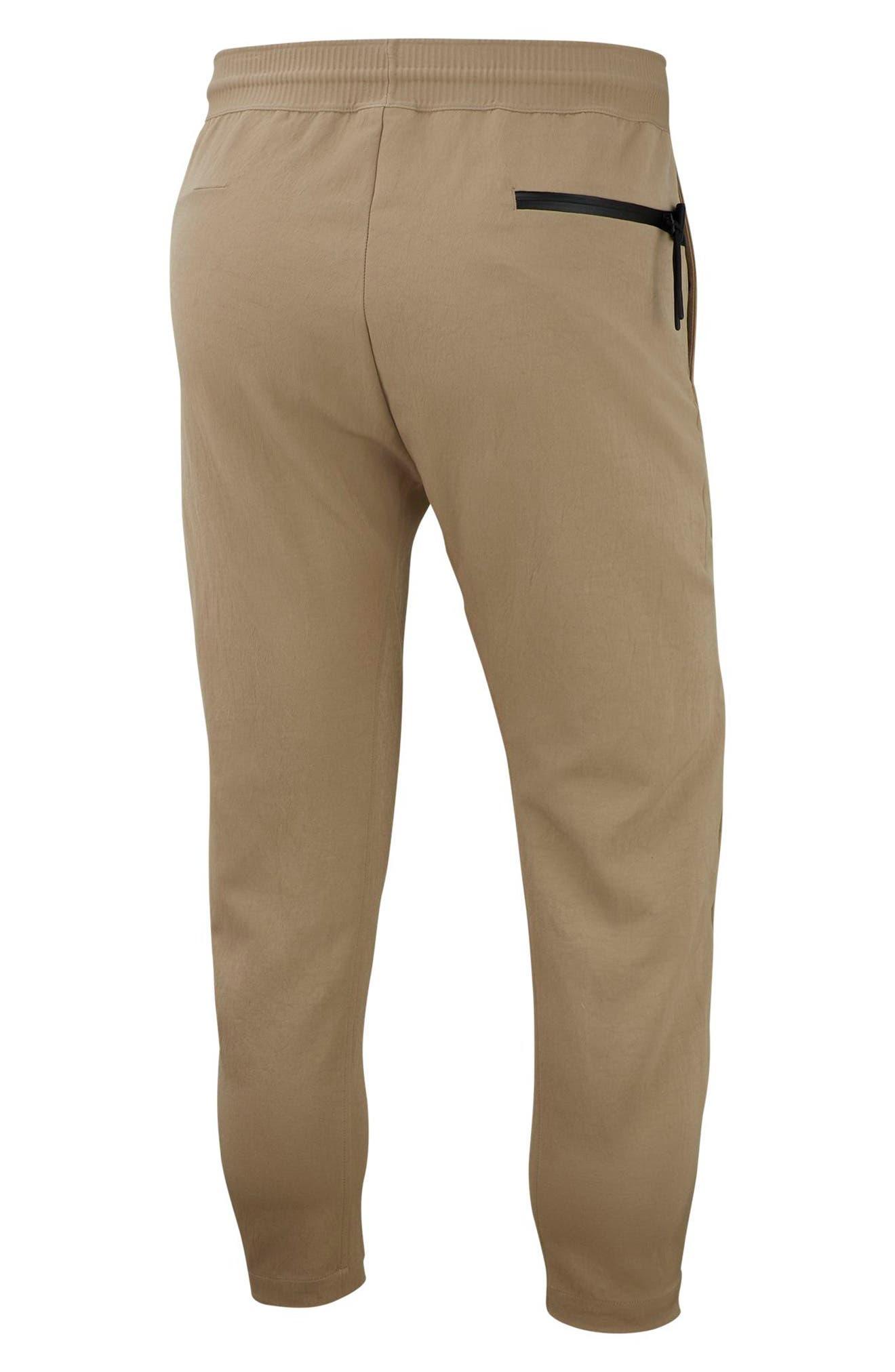 NIKE, Sportswear Tech Pack Men's Crop Woven Pants, Alternate thumbnail 7, color, KHAKI/ KHAKI/ BLACK