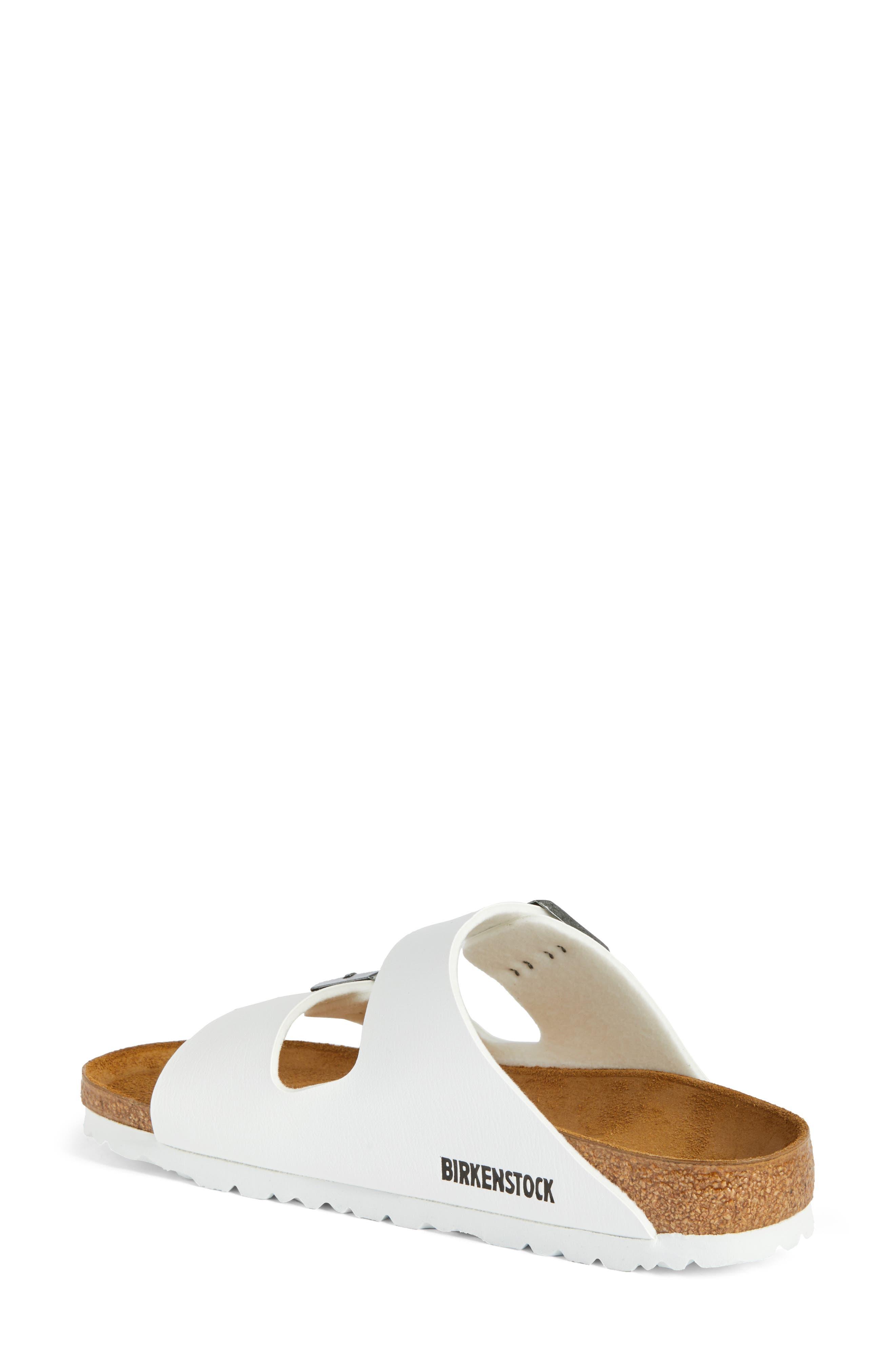 BIRKENSTOCK, 'Arizona' White Birko-Flor Sandal, Alternate thumbnail 2, color, WHITE SYNTHETIC LEATHER