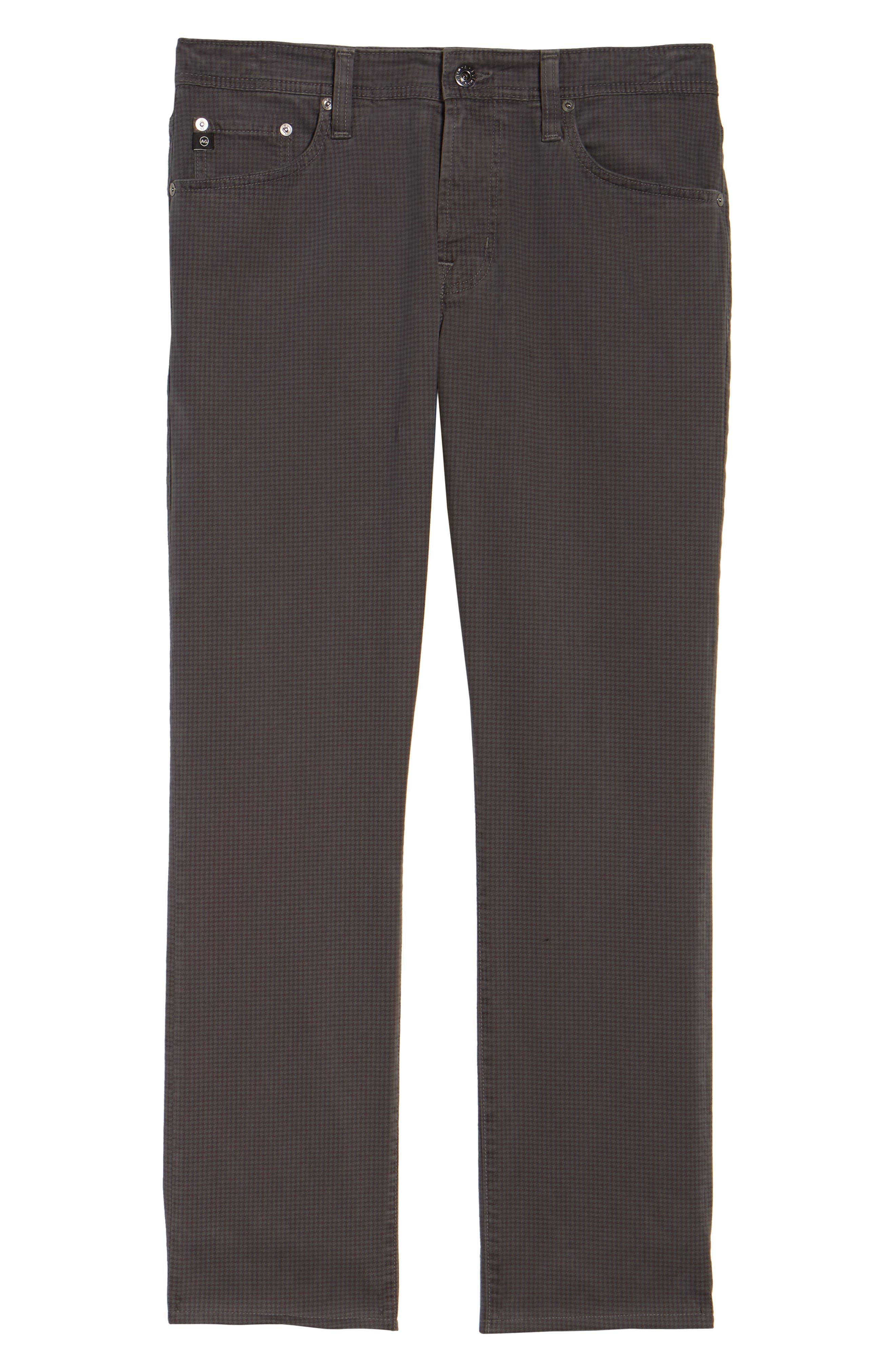 AG, Everett SUD Print Slim Straight Leg Pants, Alternate thumbnail 7, color, NO_COLOR