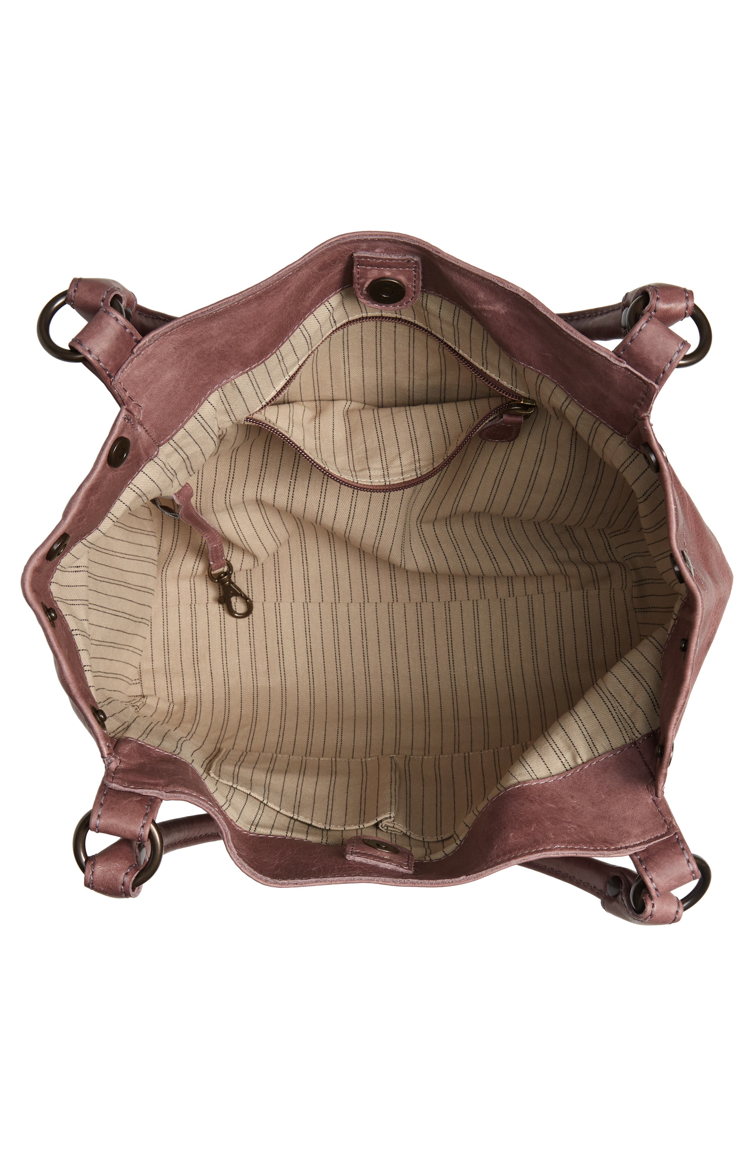 FRYE, Melissa Leather Shoulder Bag, Alternate thumbnail 5, color, LILAC
