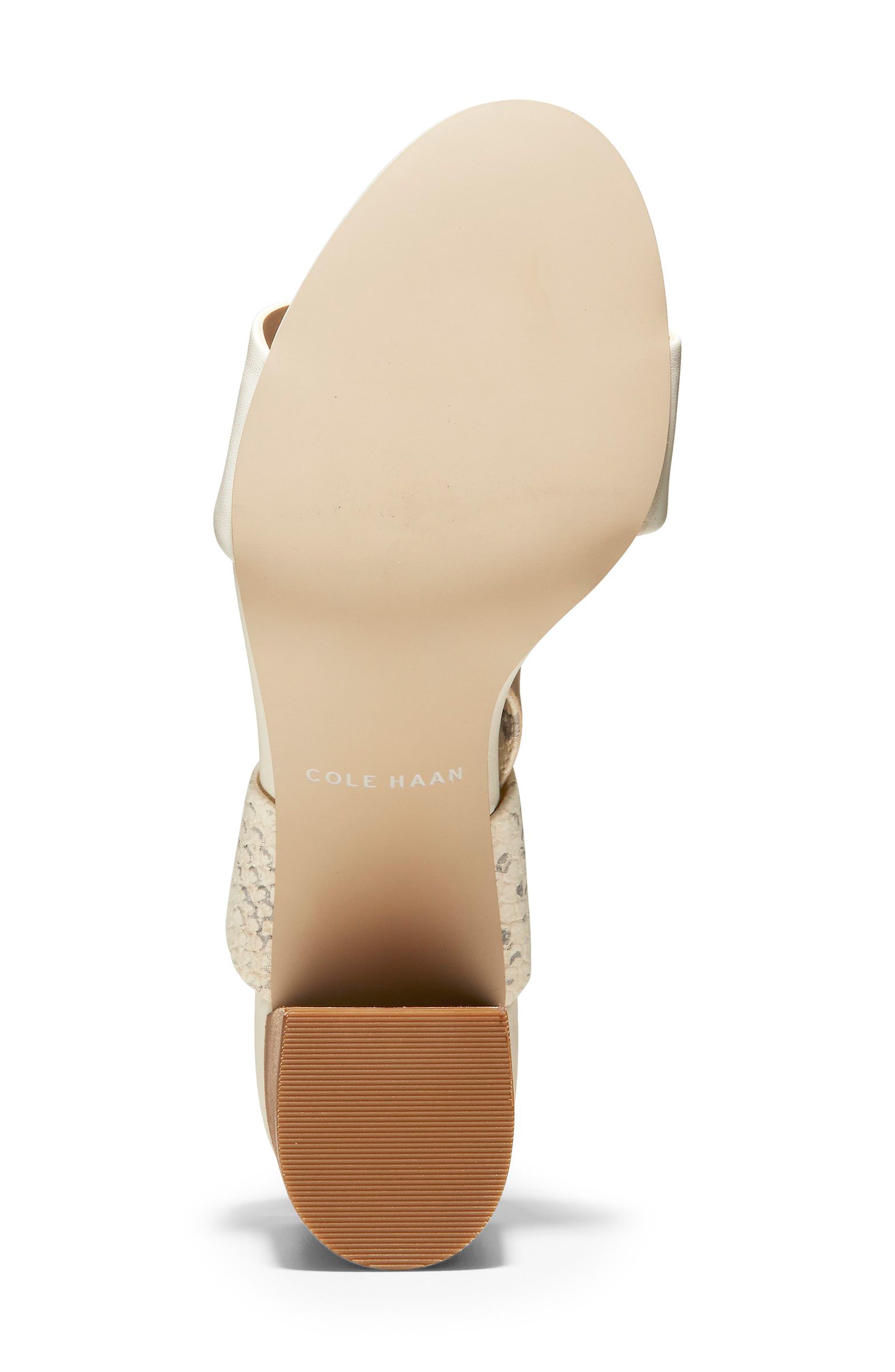 COLE HAAN, Avani Block Heel Sandal, Alternate thumbnail 6, color, IVORY PRINT LEATHER