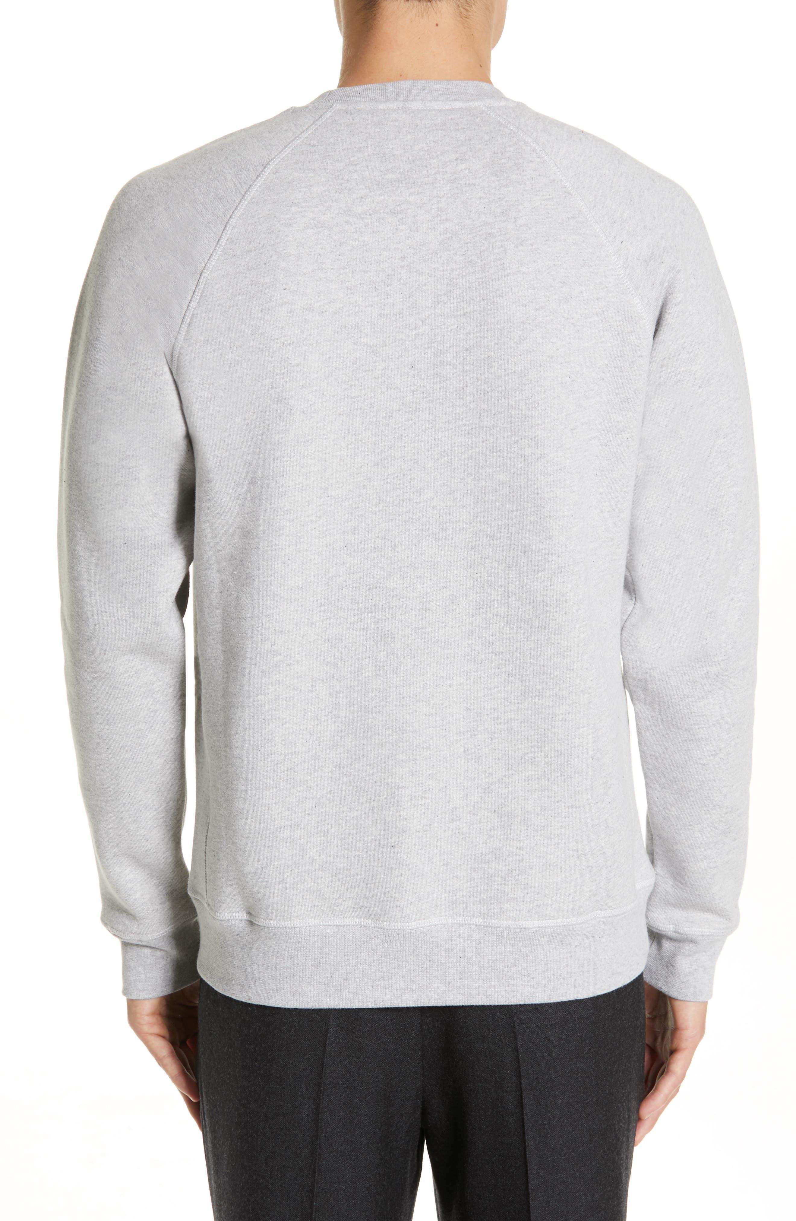 NORSE PROJECTS, Ketel Raglan Sweatshirt, Alternate thumbnail 2, color, LIGHT GREY MELANGE