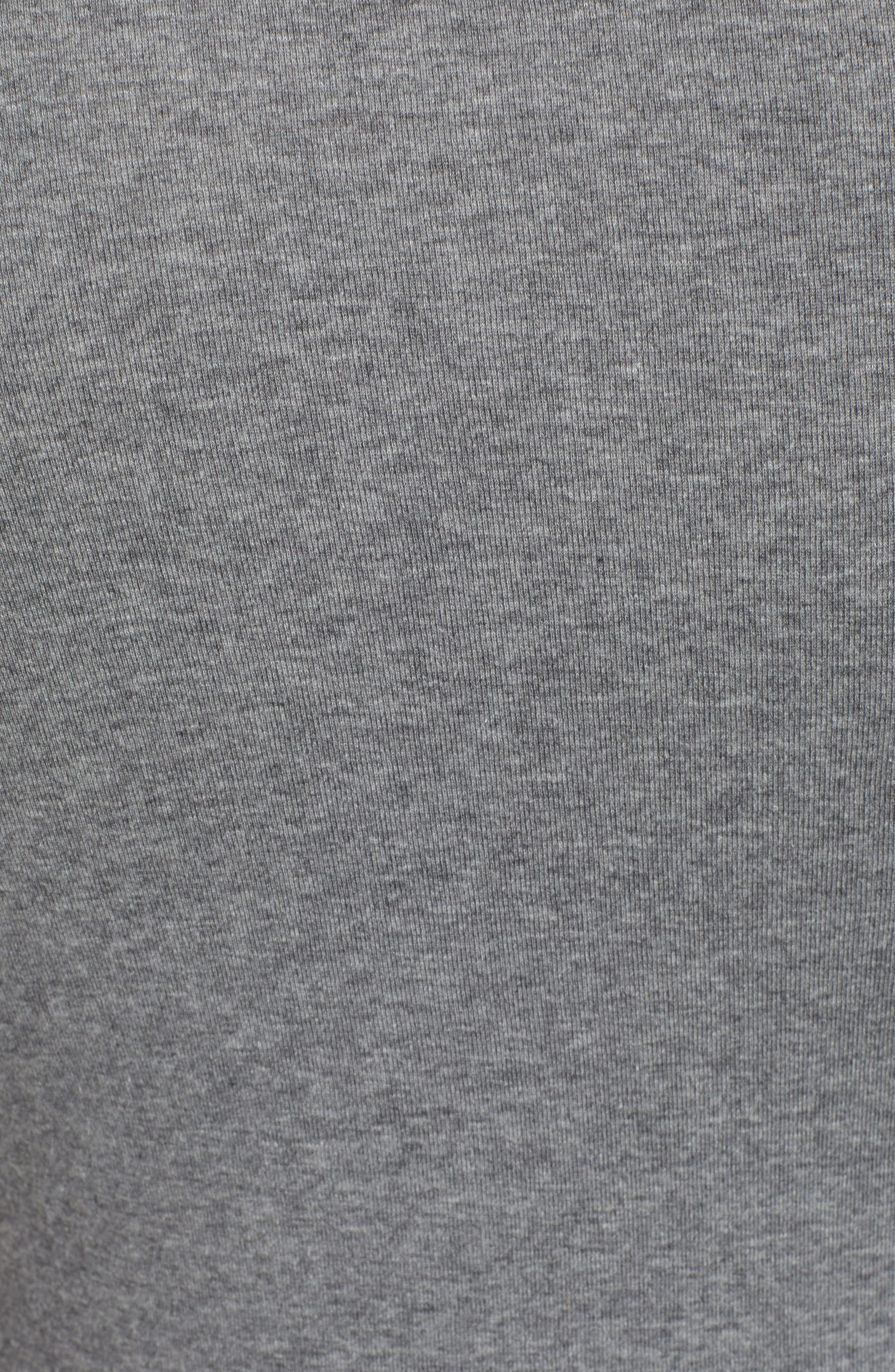 CASLON<SUP>®</SUP>, 'Melody' Long Sleeve Scoop Neck Tee, Alternate thumbnail 5, color, GREY DARK HEATHER