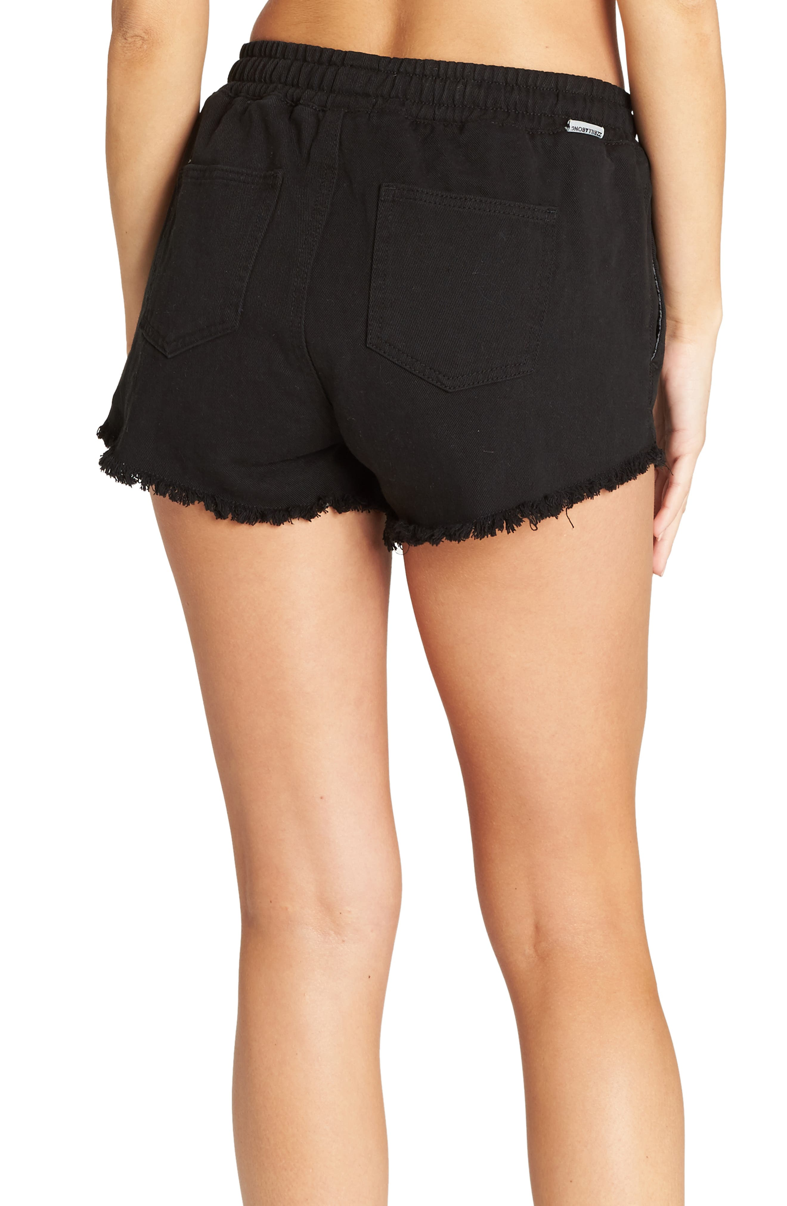 BILLABONG, Coast Line Twill Shorts, Main thumbnail 1, color, TRUE BLACK