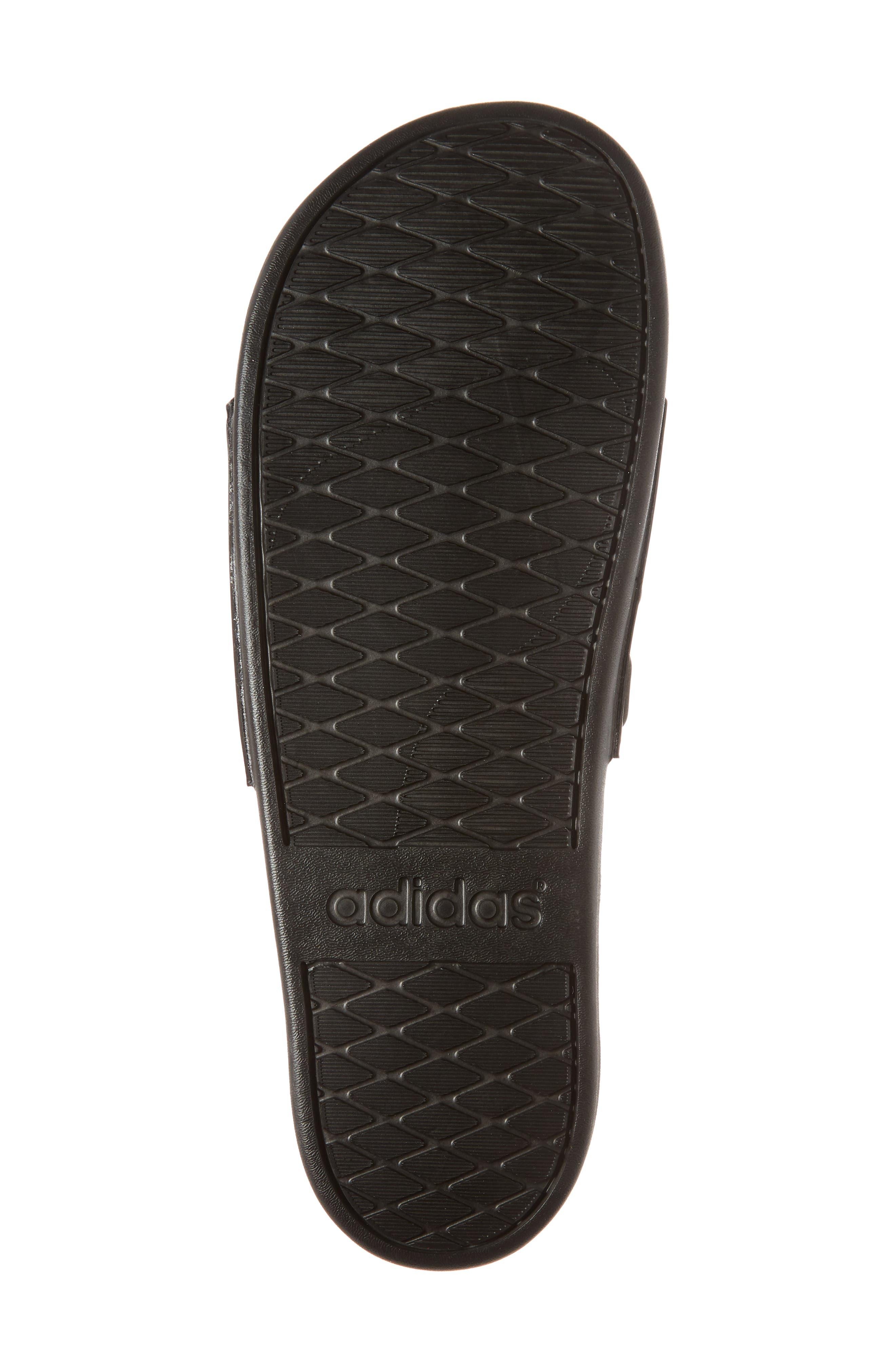 ADIDAS, Adilette Cloudfoam Mono Sport Slide Sandal, Alternate thumbnail 6, color, BLACK/ BLACK