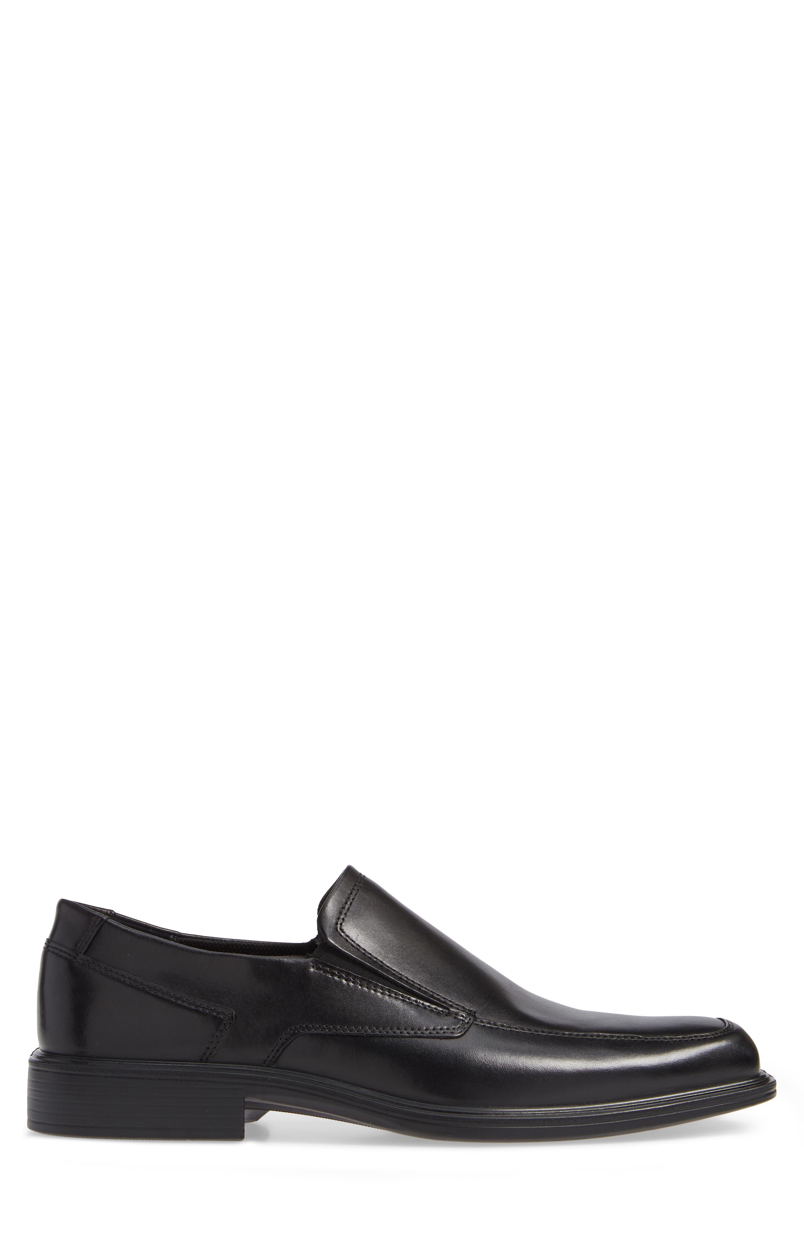 ECCO, Minneapolis Venetian Loafer, Alternate thumbnail 3, color, BLACK/BLACK LEATHER