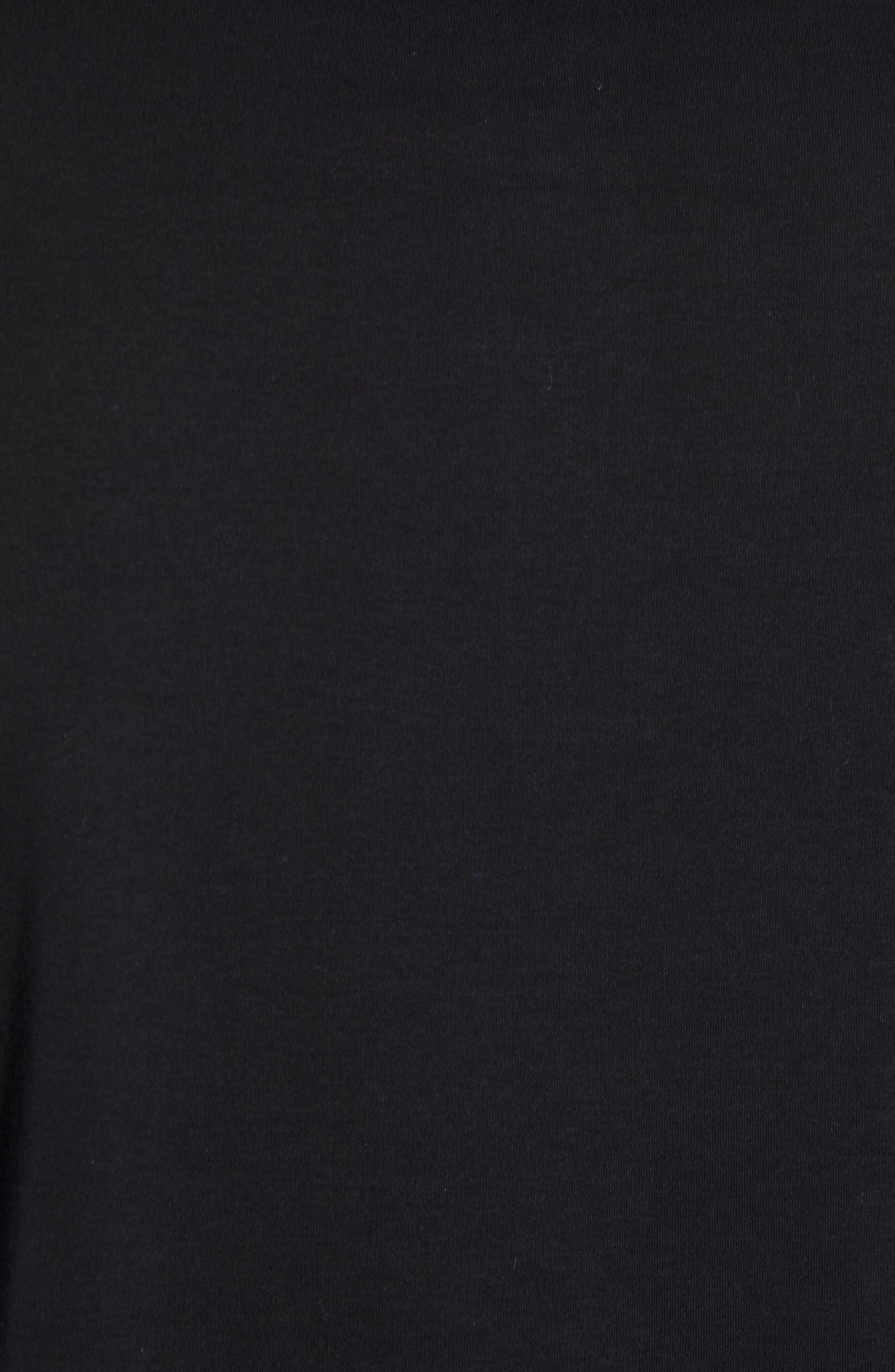 ROBERT BARAKETT, Batiste Long Sleeve Polo, Alternate thumbnail 5, color, BLACK