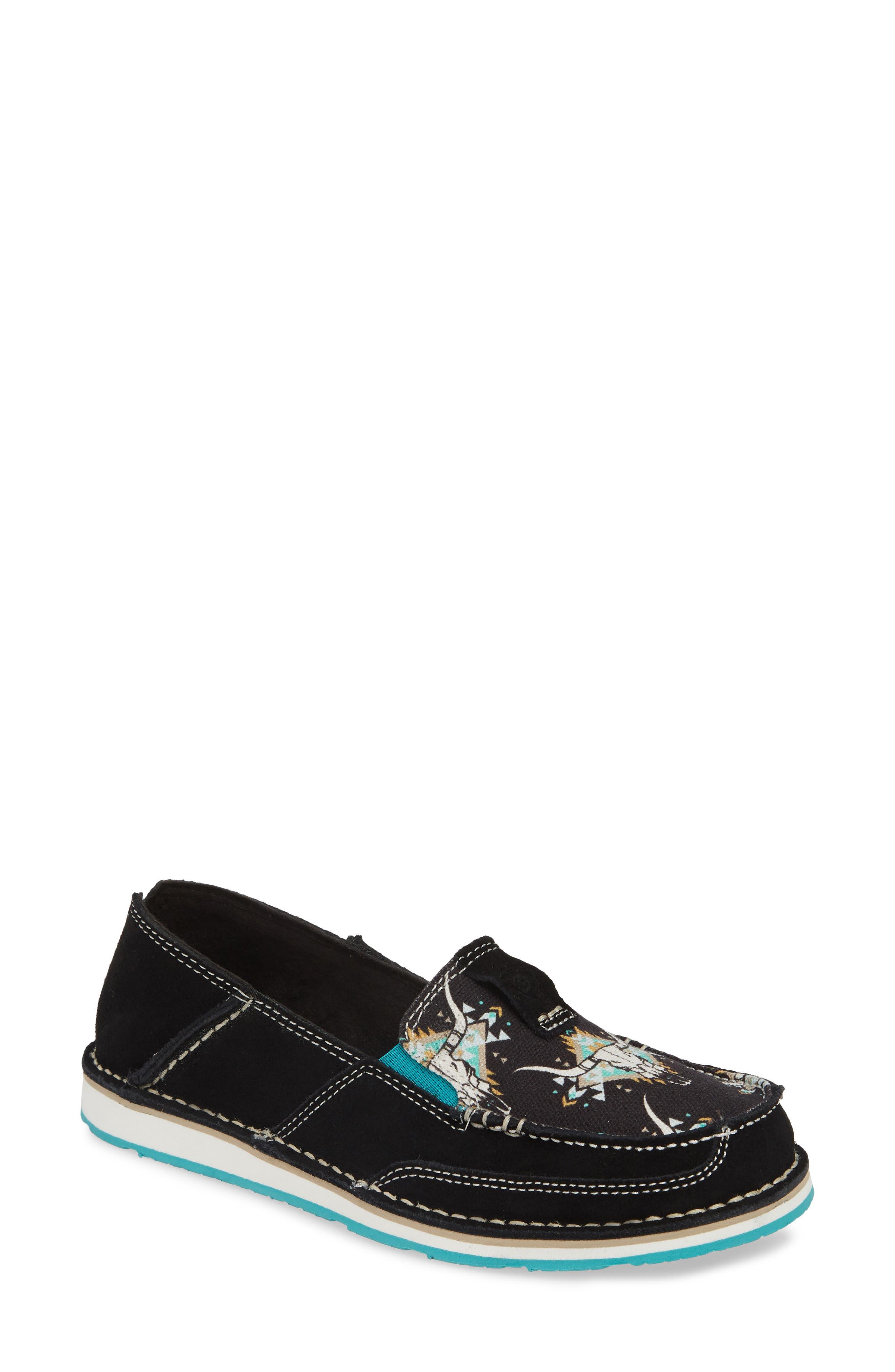 ARIAT Cruiser Slip-On Loafer, Main, color, BLACK STEER LEATHER
