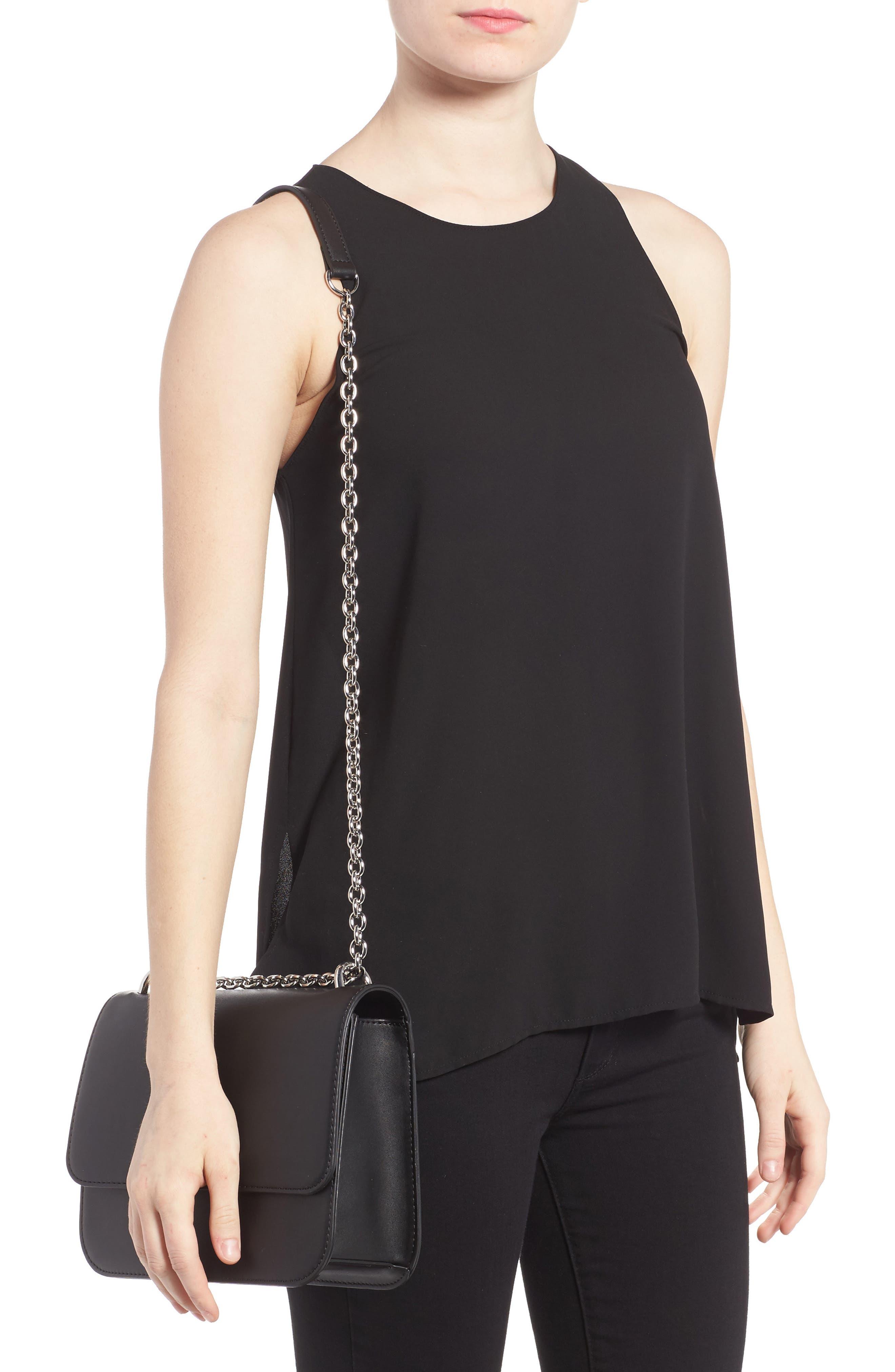 CHELSEA28, Dahlia Faux Leather Shoulder Bag, Alternate thumbnail 3, color, 001