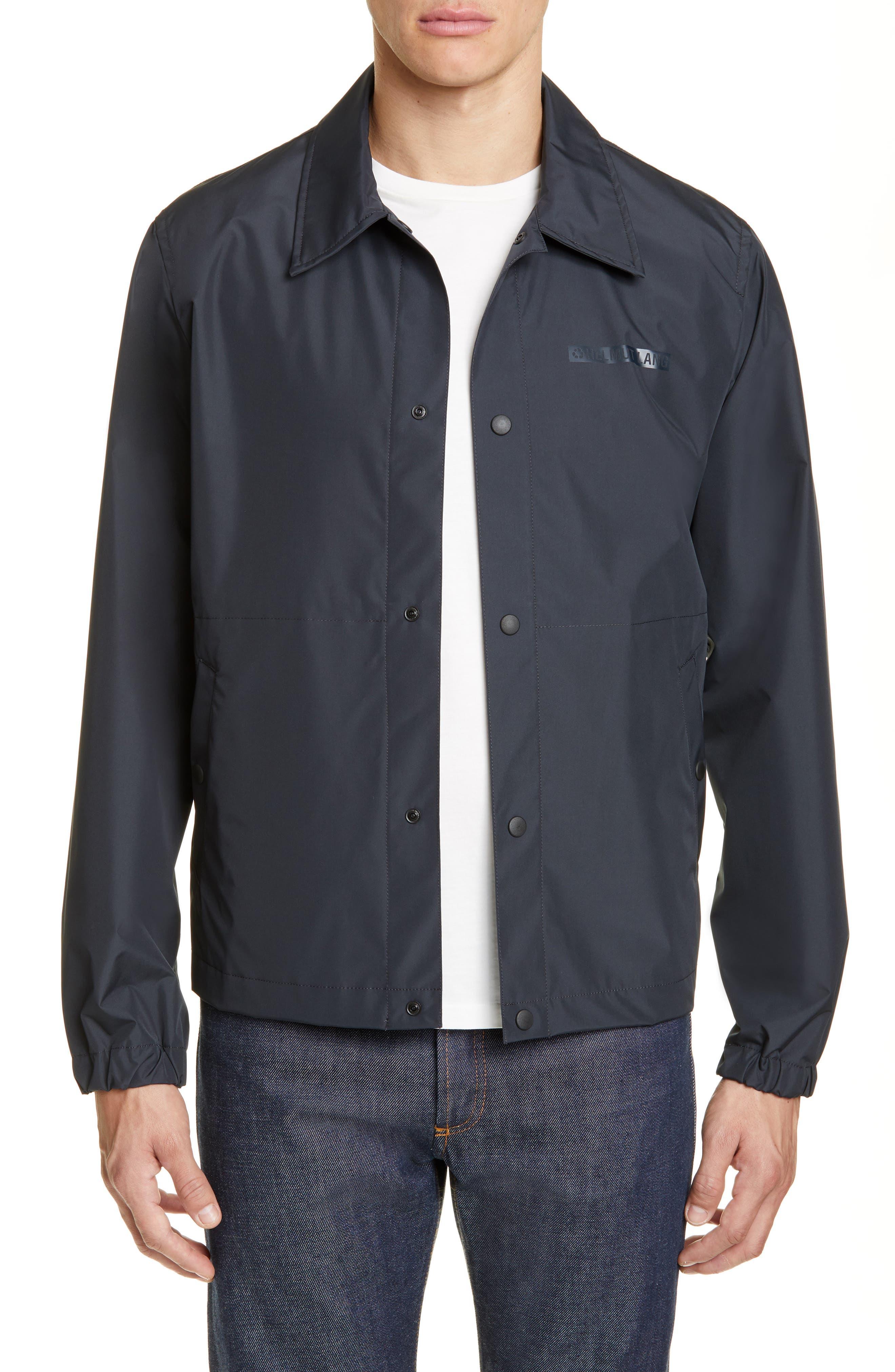 HELMUT LANG Stadium Coach's Jacket, Main, color, BLACK
