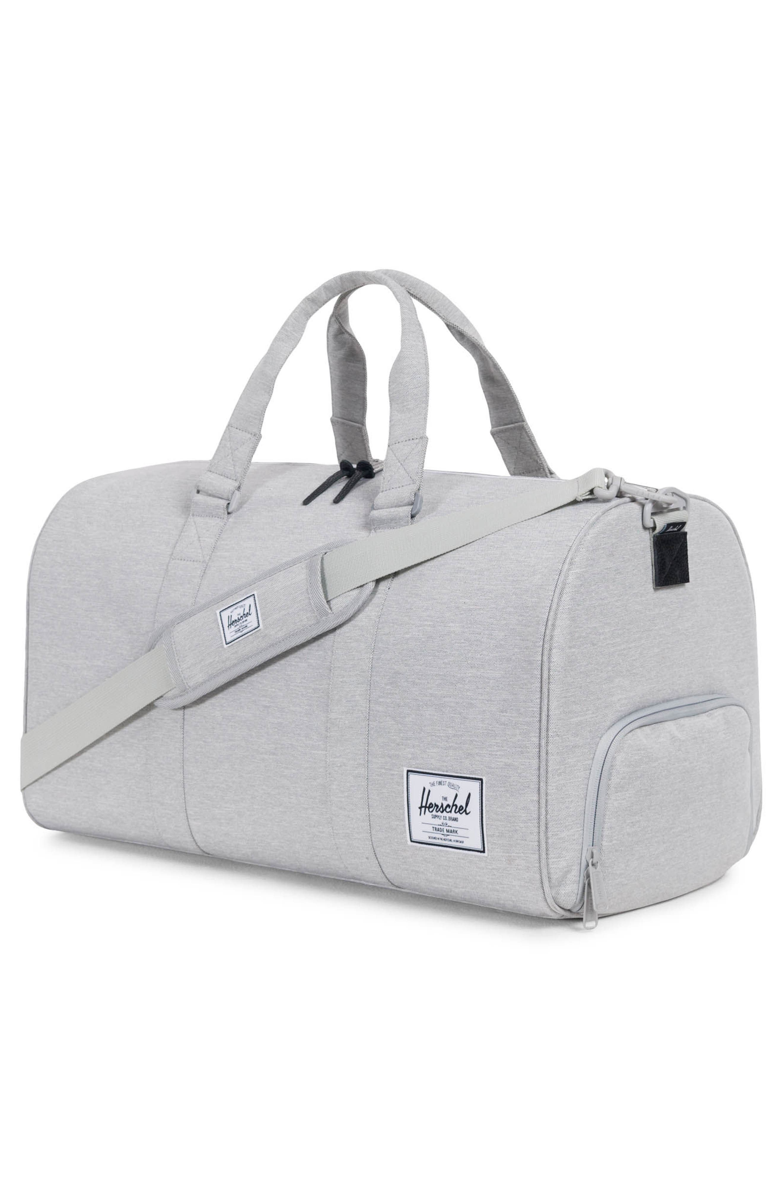 HERSCHEL SUPPLY CO., Novel Duffle Bag, Alternate thumbnail 8, color, LIGHT GREY CROSSHATCH
