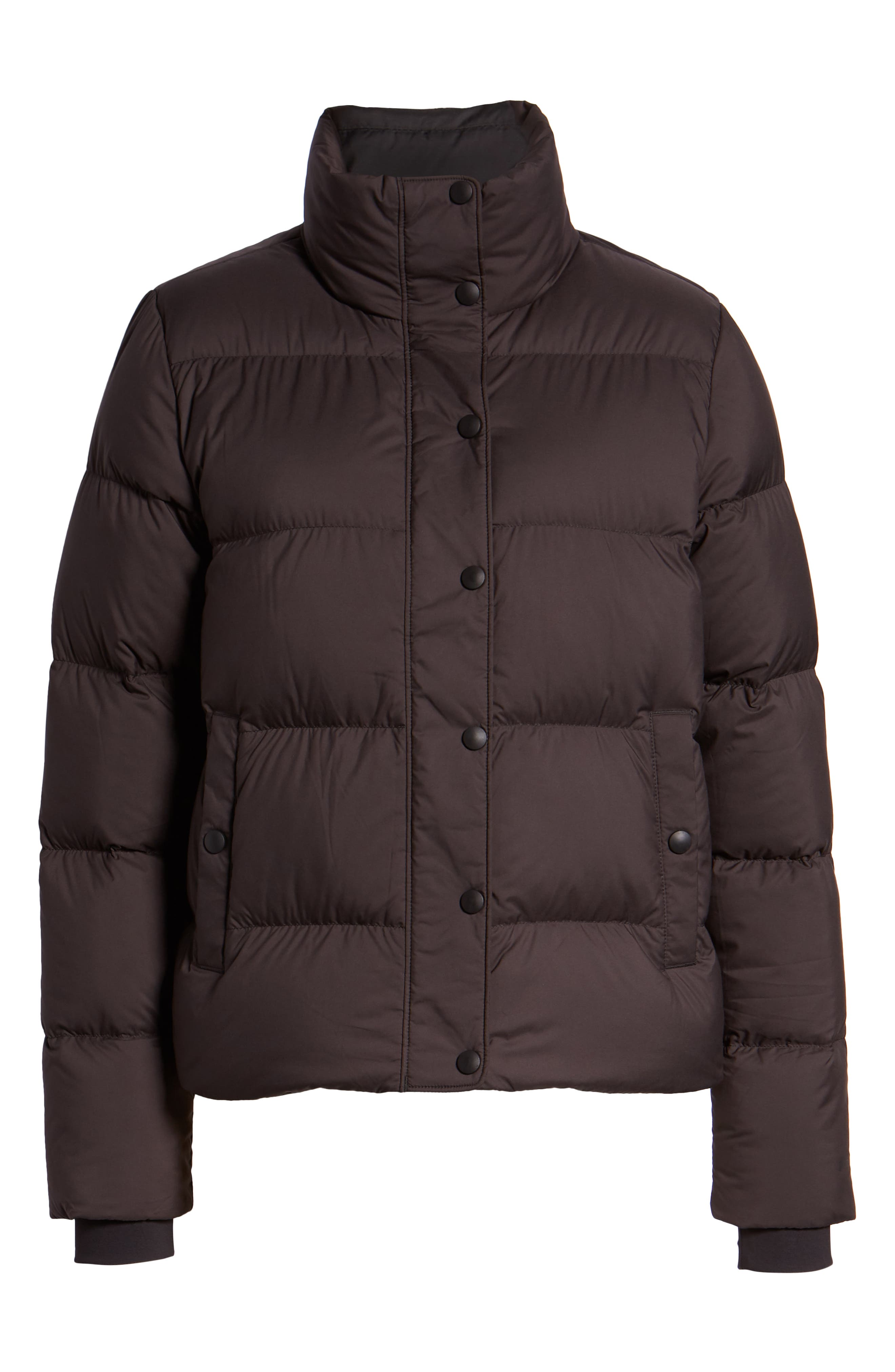 PATAGONIA, Silent Water Repellent 700-Fill Power Down Insulated Jacket, Alternate thumbnail 6, color, BLACK